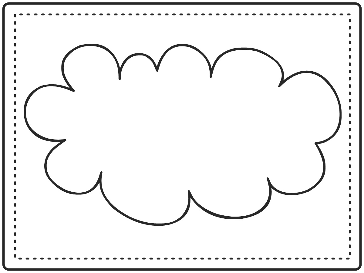 5 Best Images Of Printable Cloud Template