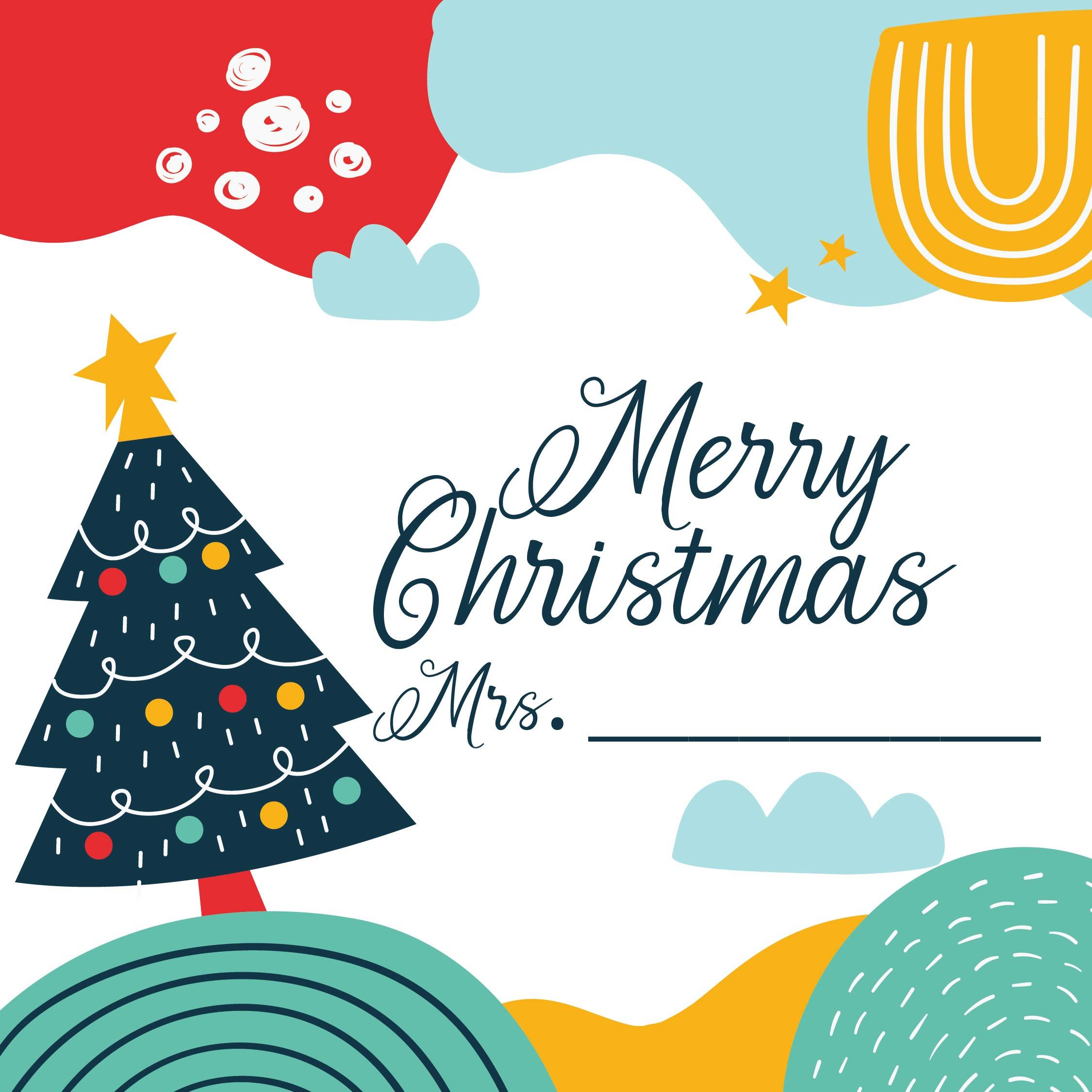 6 Best Printable Christmas Cards For Teachers