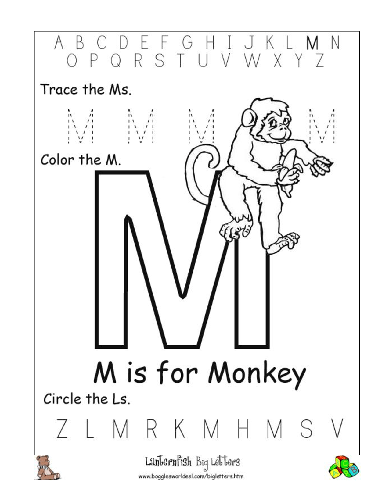 6 Best Images Of Letter M Worksheets Printable