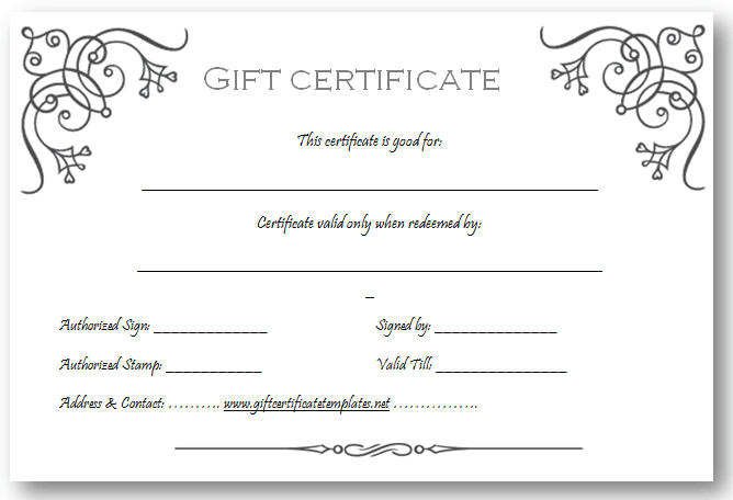 Gift Certificate Maker Free. Gift Certificates Free Printable ...