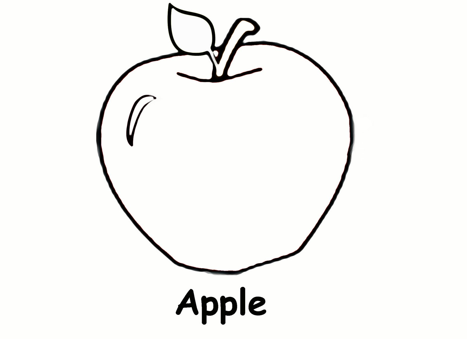 6 Best Images Of Apple Outline Printable Full Page