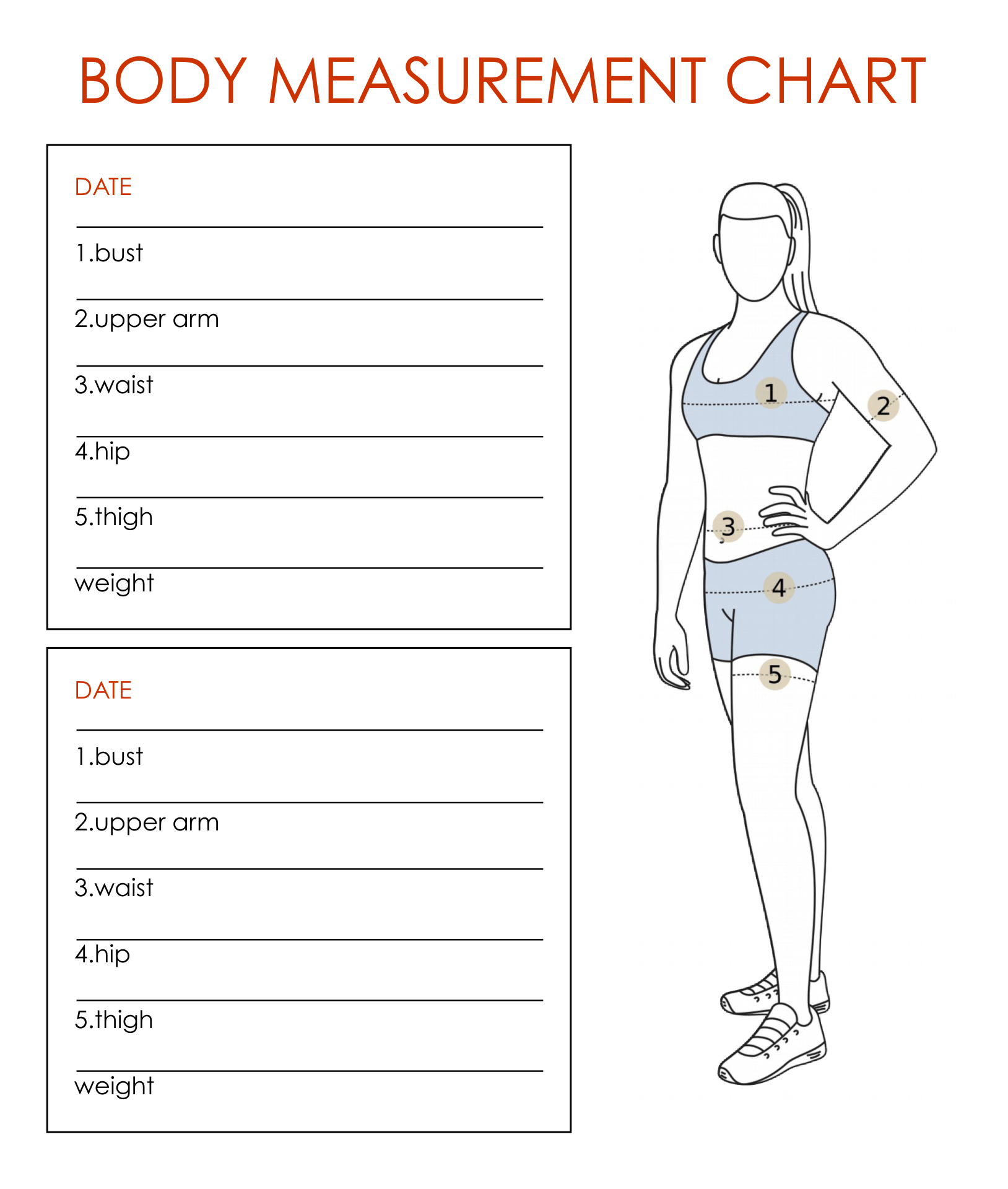 7 Best Printable Weight Loss Measurement Chart