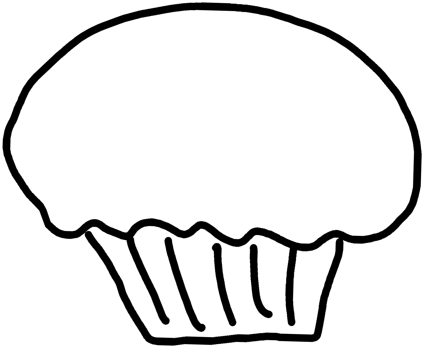 7 Best Images Of Printable Cupcake Clip Art Black And