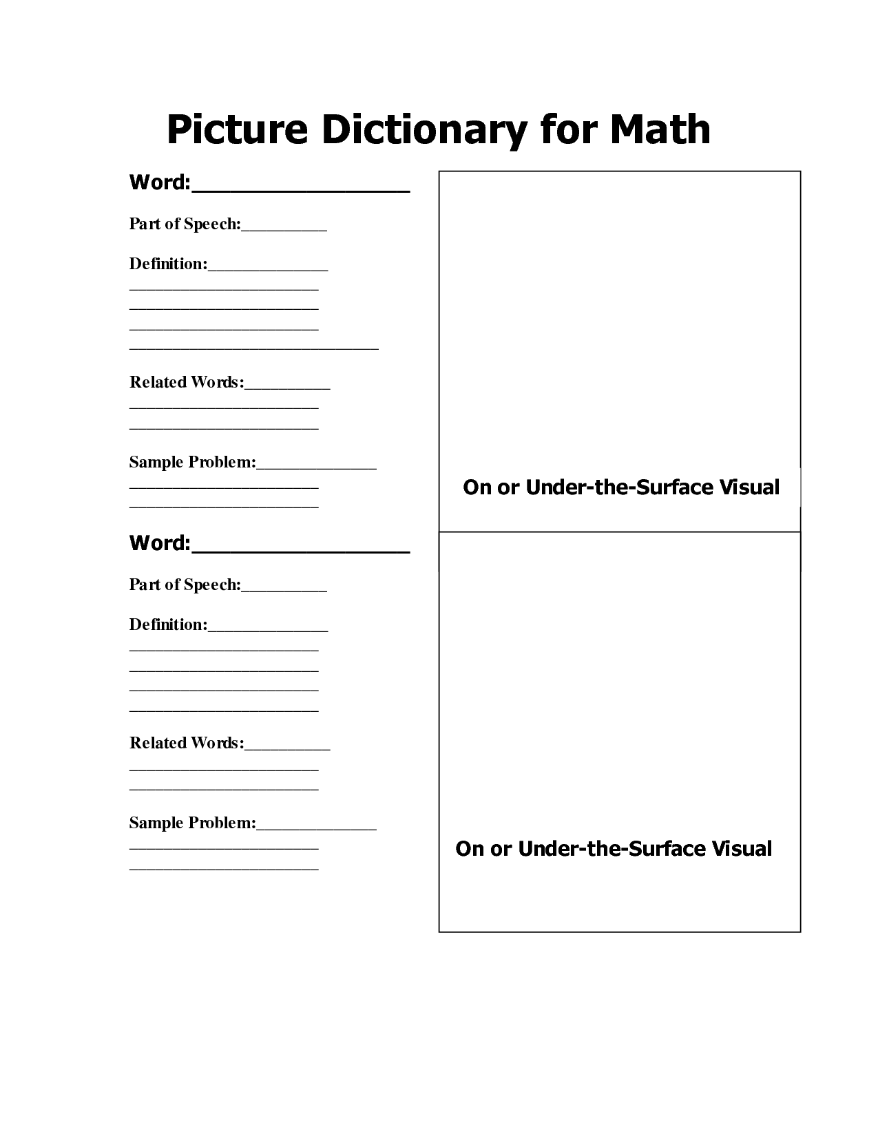 8 Best Images Of Free Printable Dictionary Template