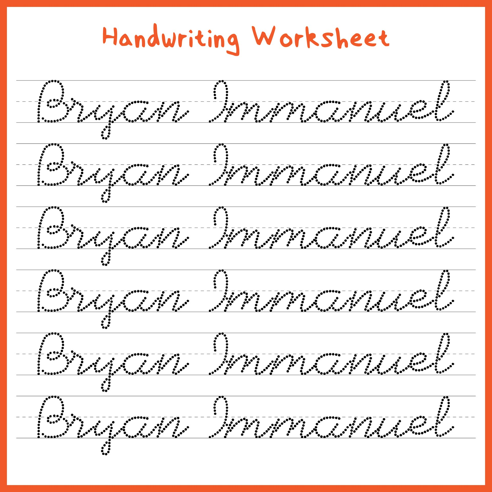 7 Best Images Of Handwriting Printable Kindergarten