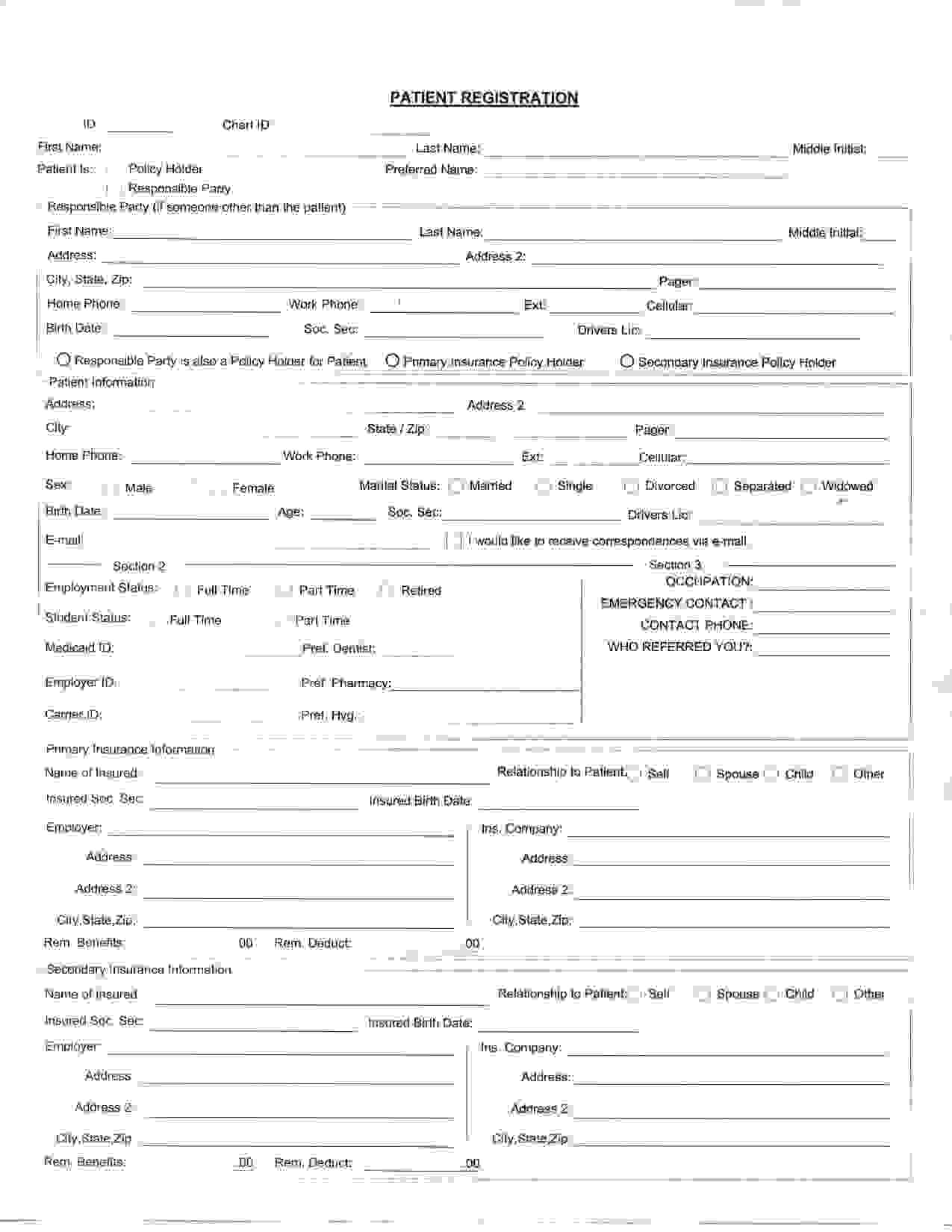 8 Best Images Of Printable Office Forms