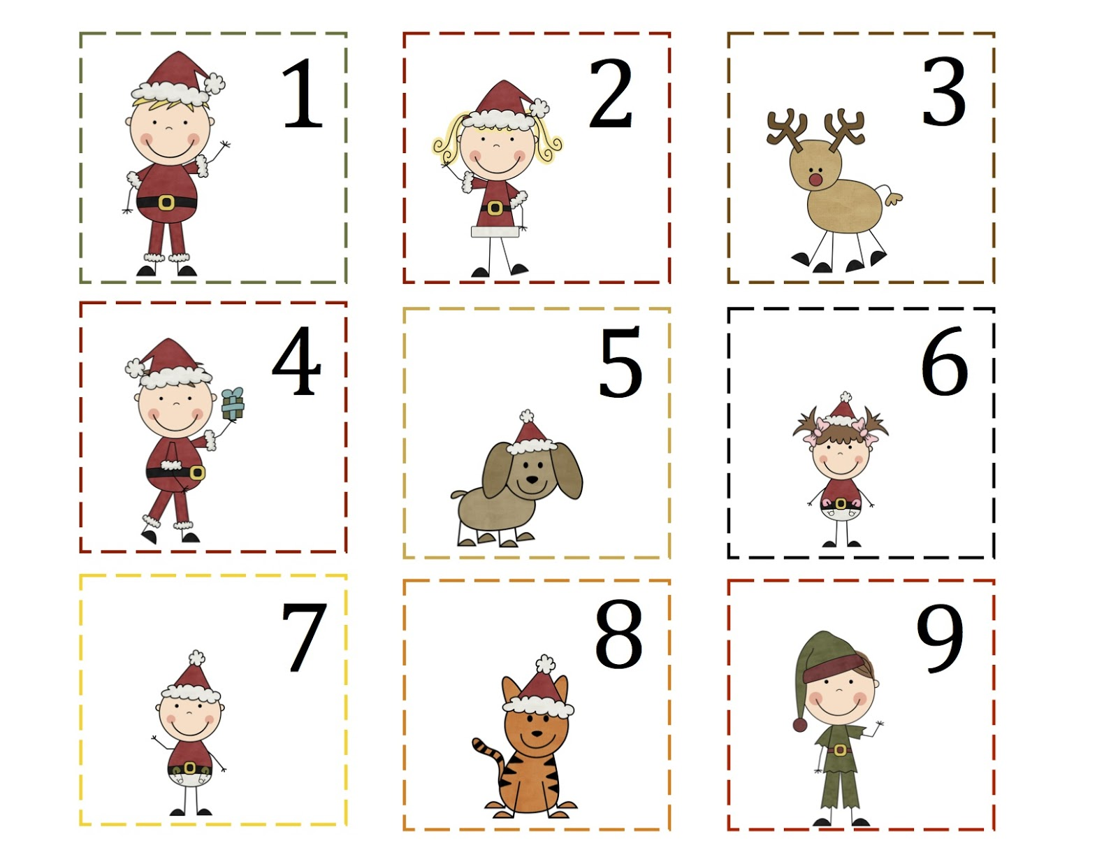 Free Printable Preschool Calendar Numbers