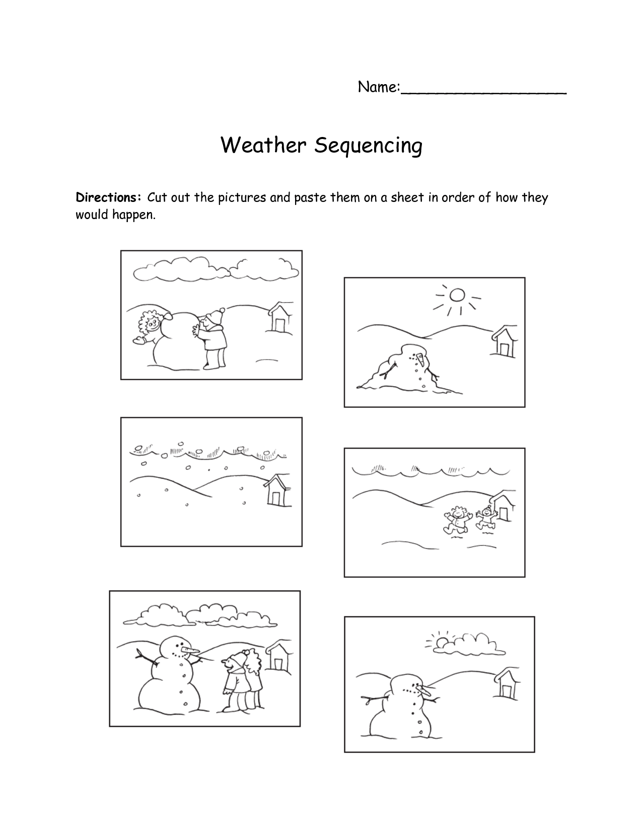 Search Results For Story Sequencing Worksheets