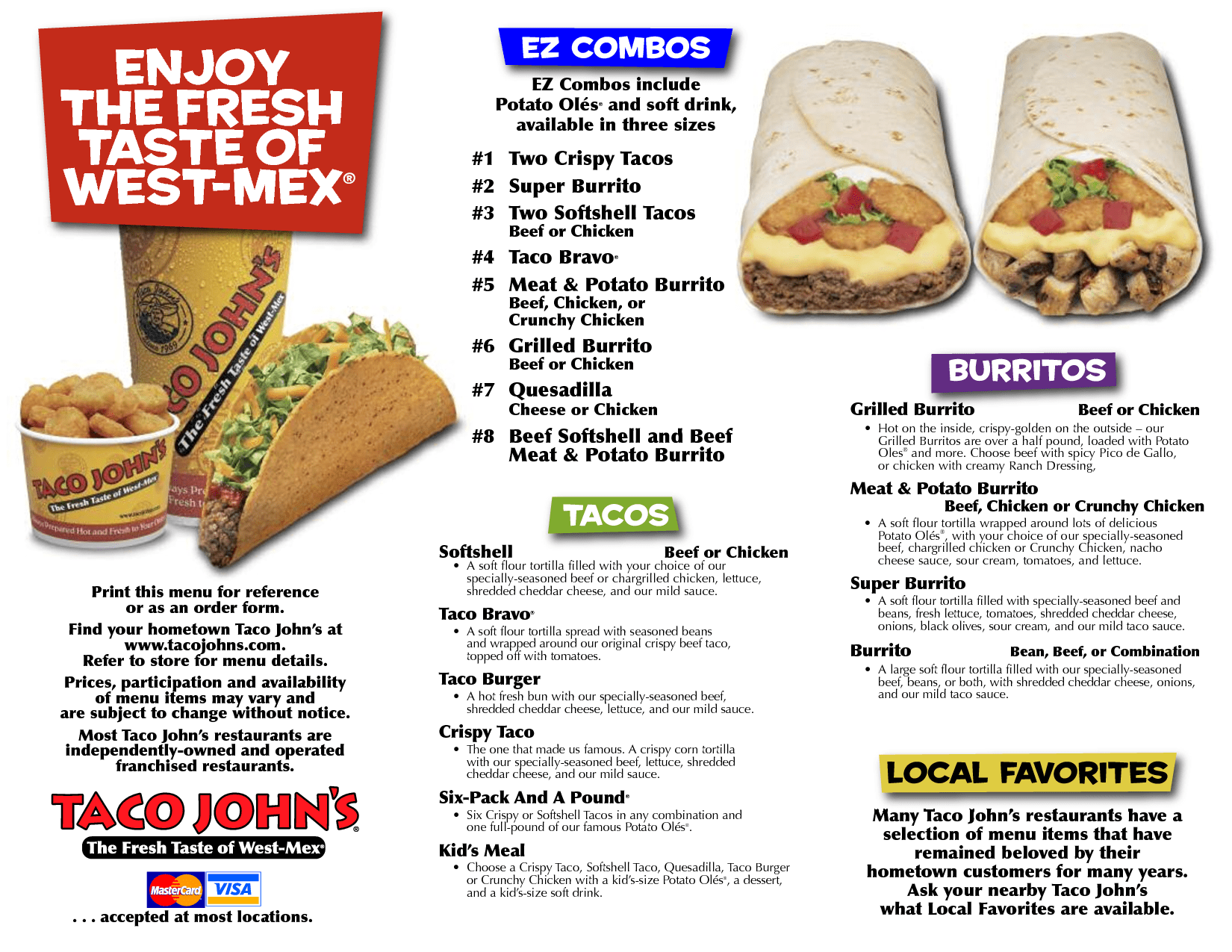 6 Best Images Of Taco Bell Restaurant Printable Menus