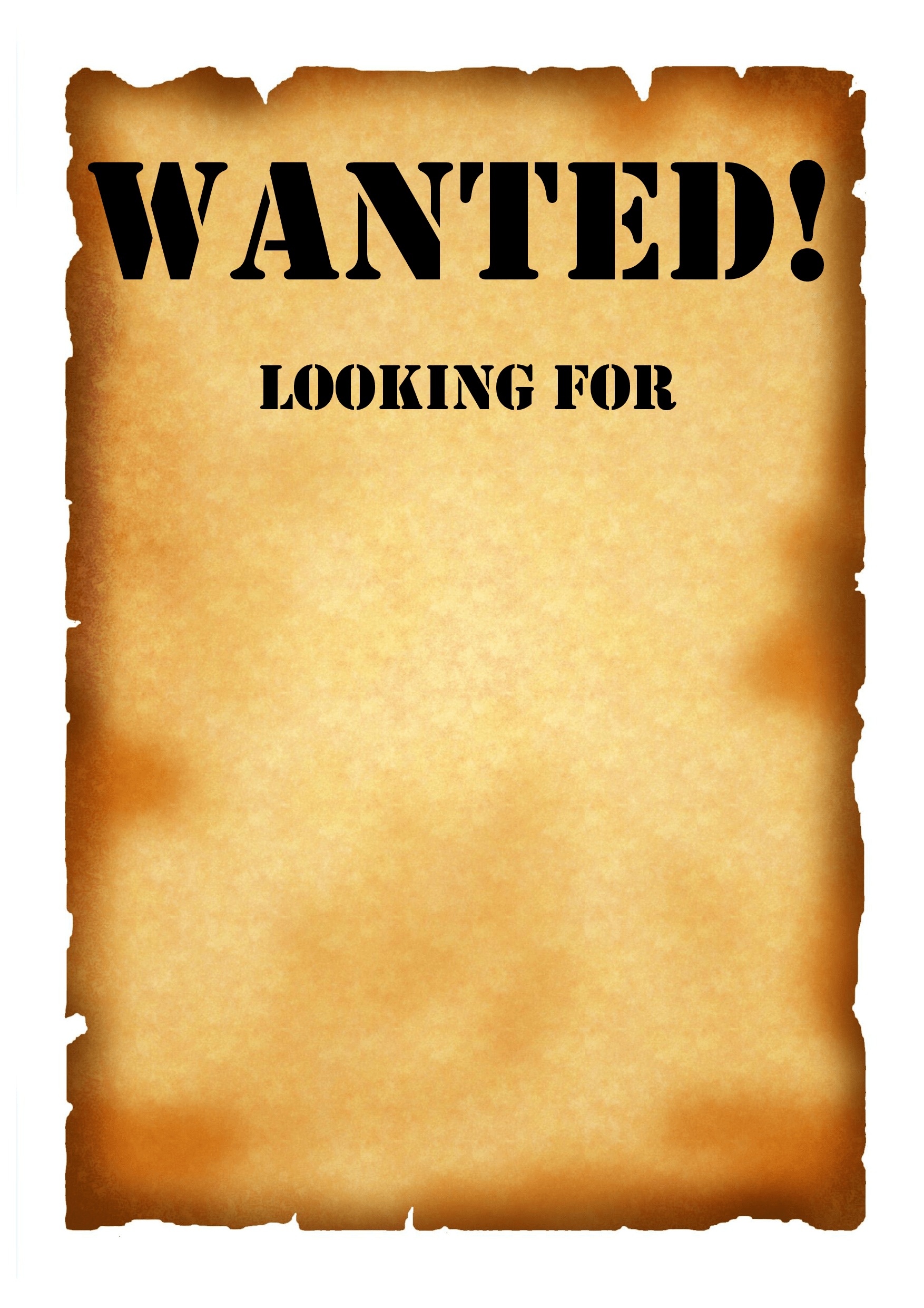 7 Best Images Of Free Printable Wanted Sign Template