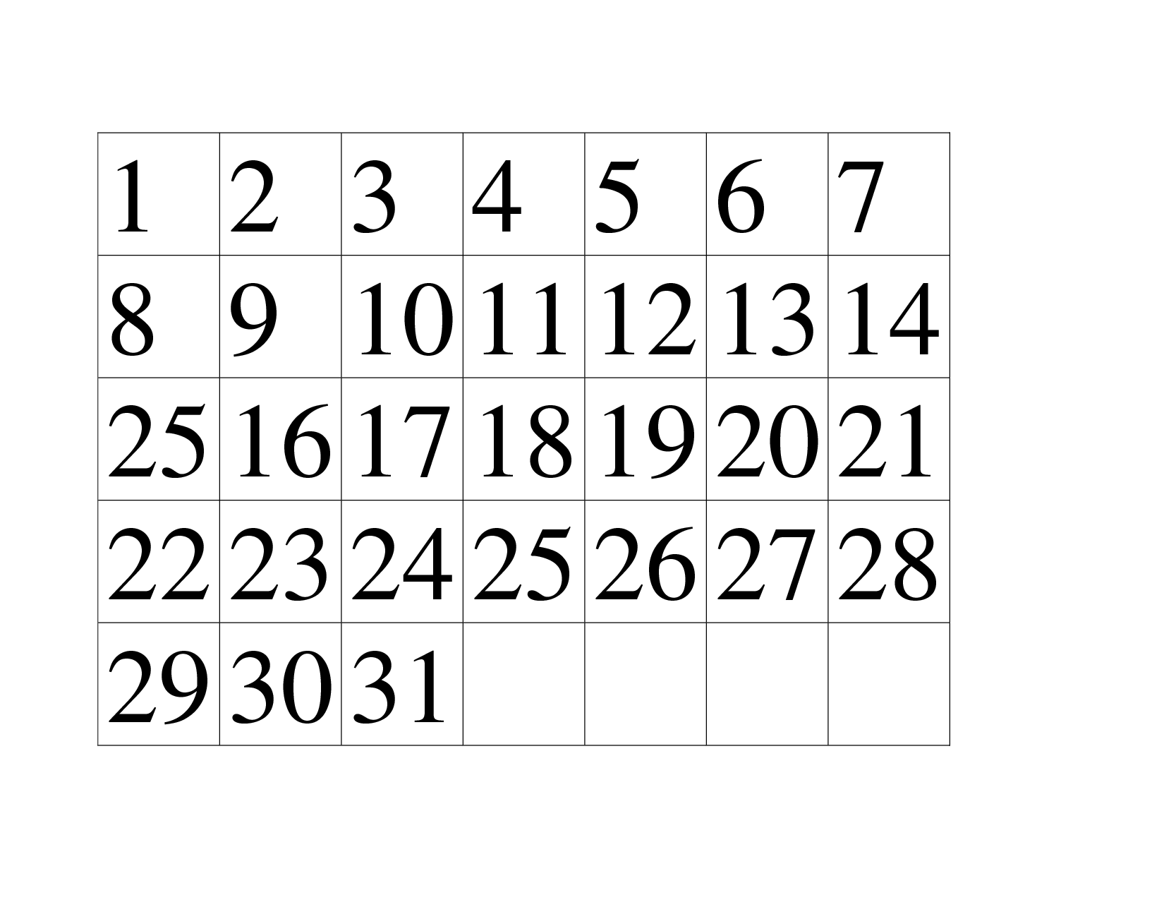 4 Best Images Of Large Printable Numbers 1 31