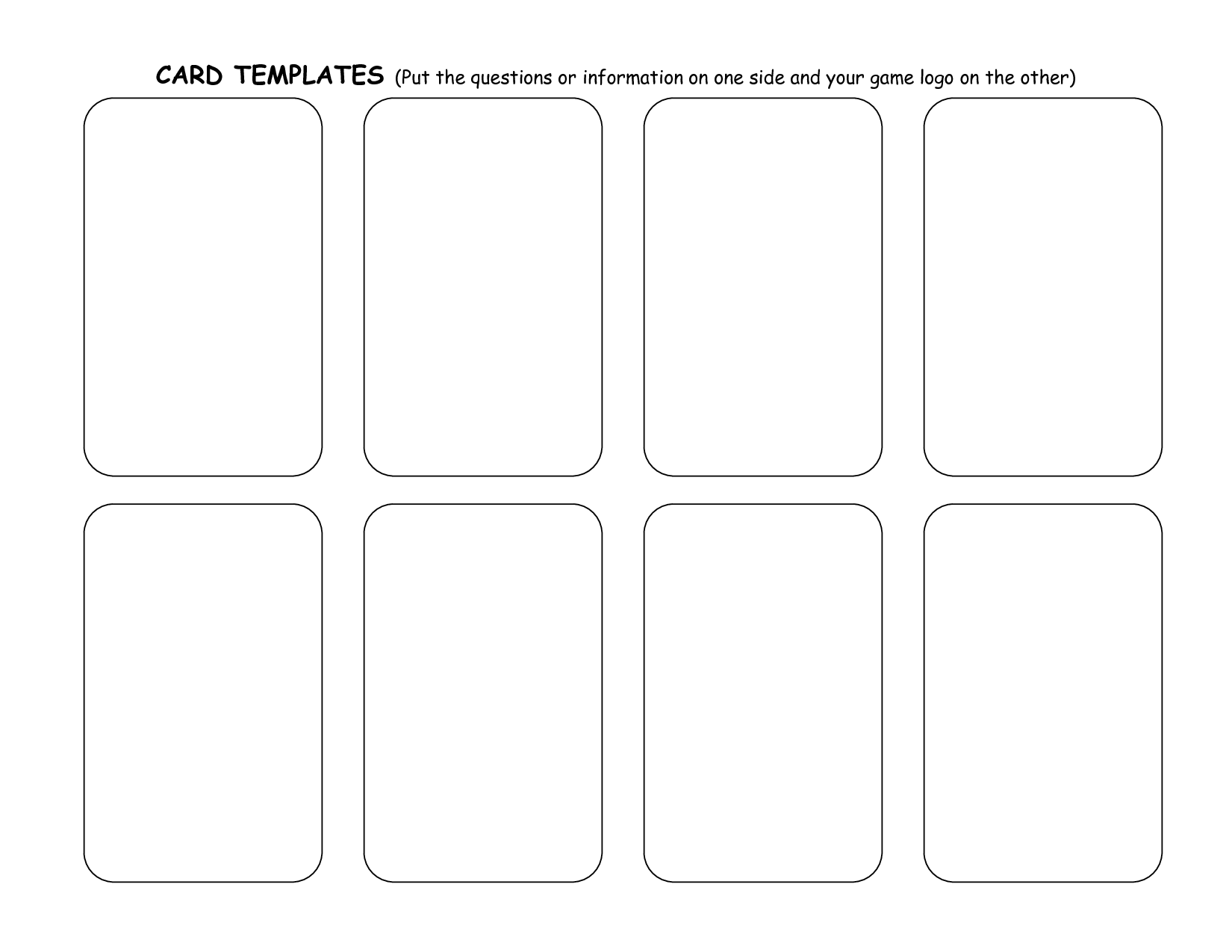 8 Best Images Of Card Word Template Printable