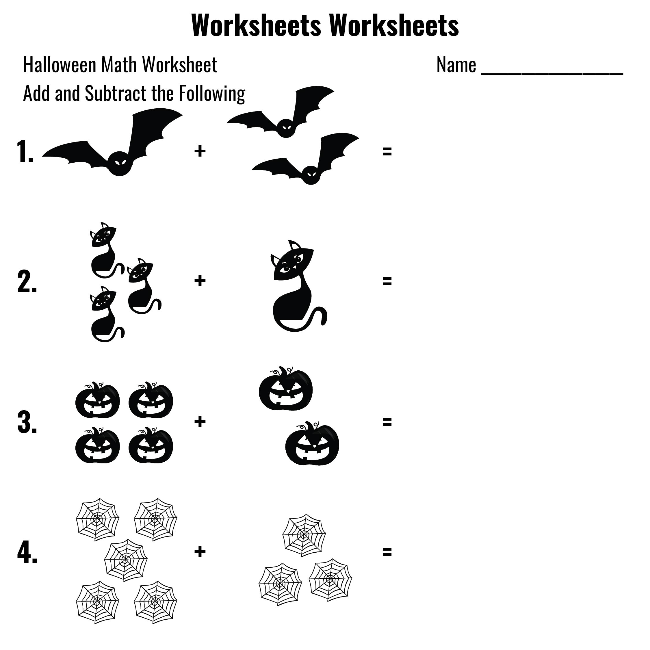 6 Best Halloween Math Worksheets Printable