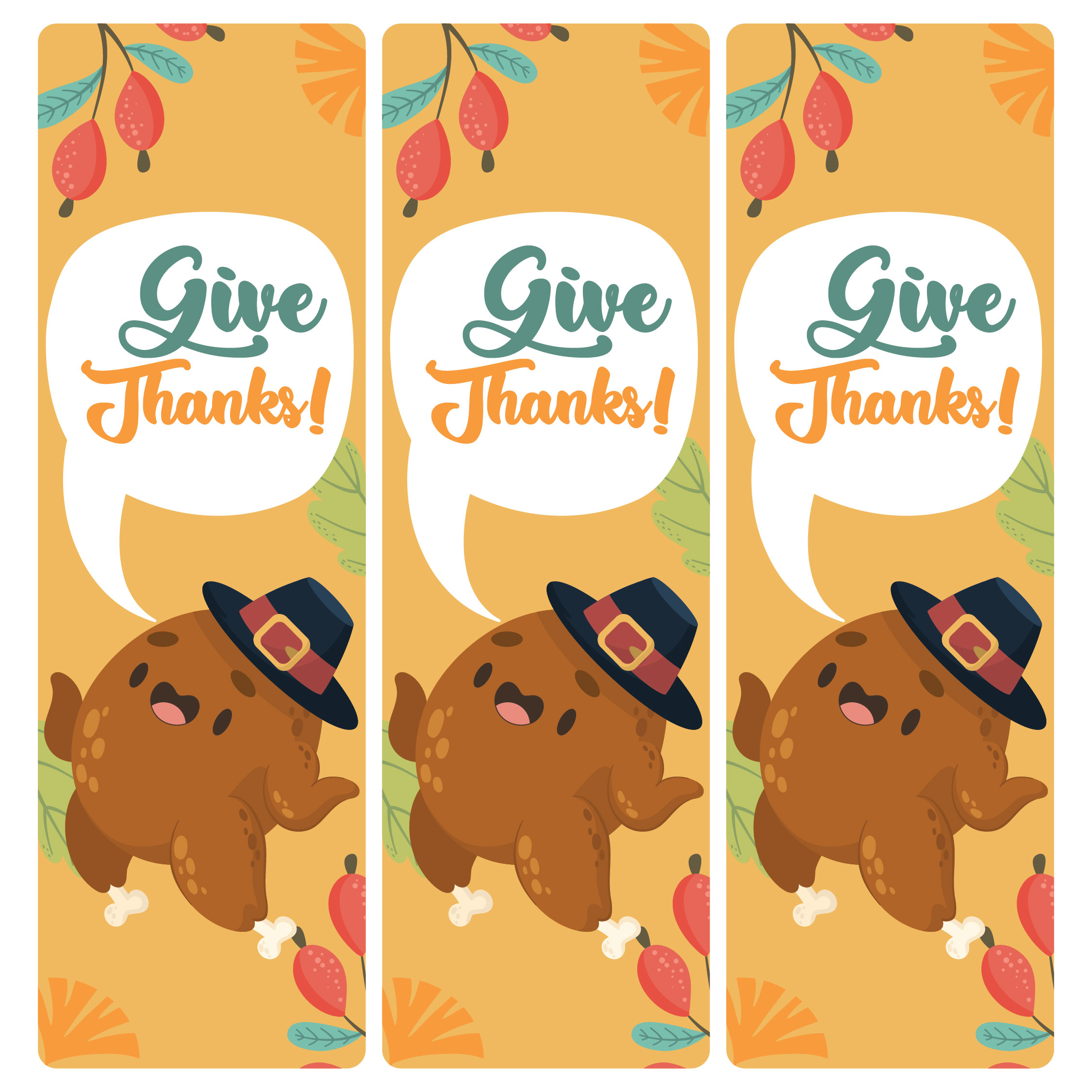 5 Best Printable Thanksgiving Bookmarks