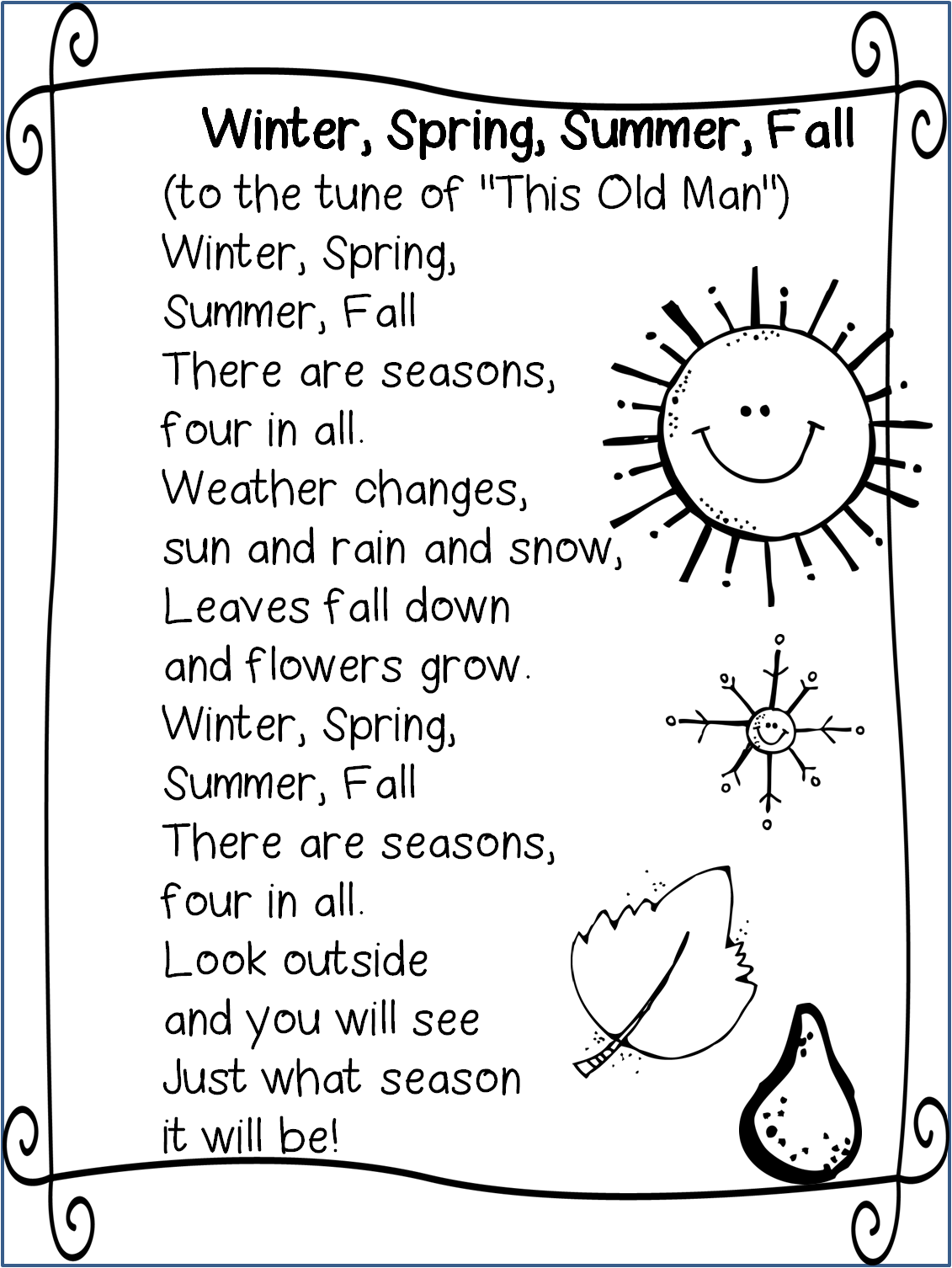 Rhyming Poems For 2nd Graders