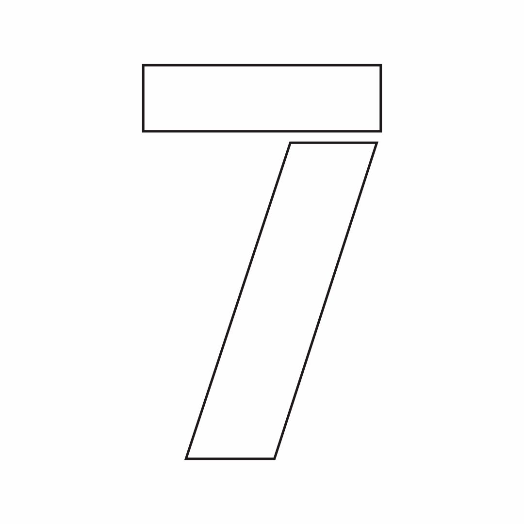 7 Best Images Of Printable Number 6 7