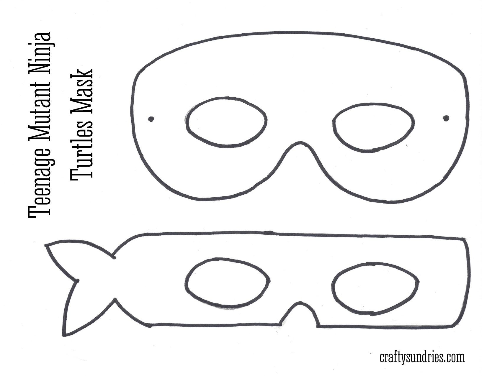Turtle Mask Printable