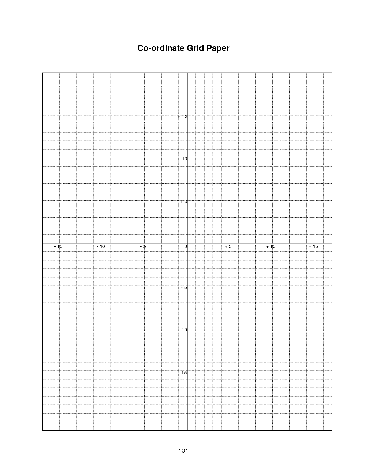 4 Best Images Of Printable Full Page Coordinate Plane