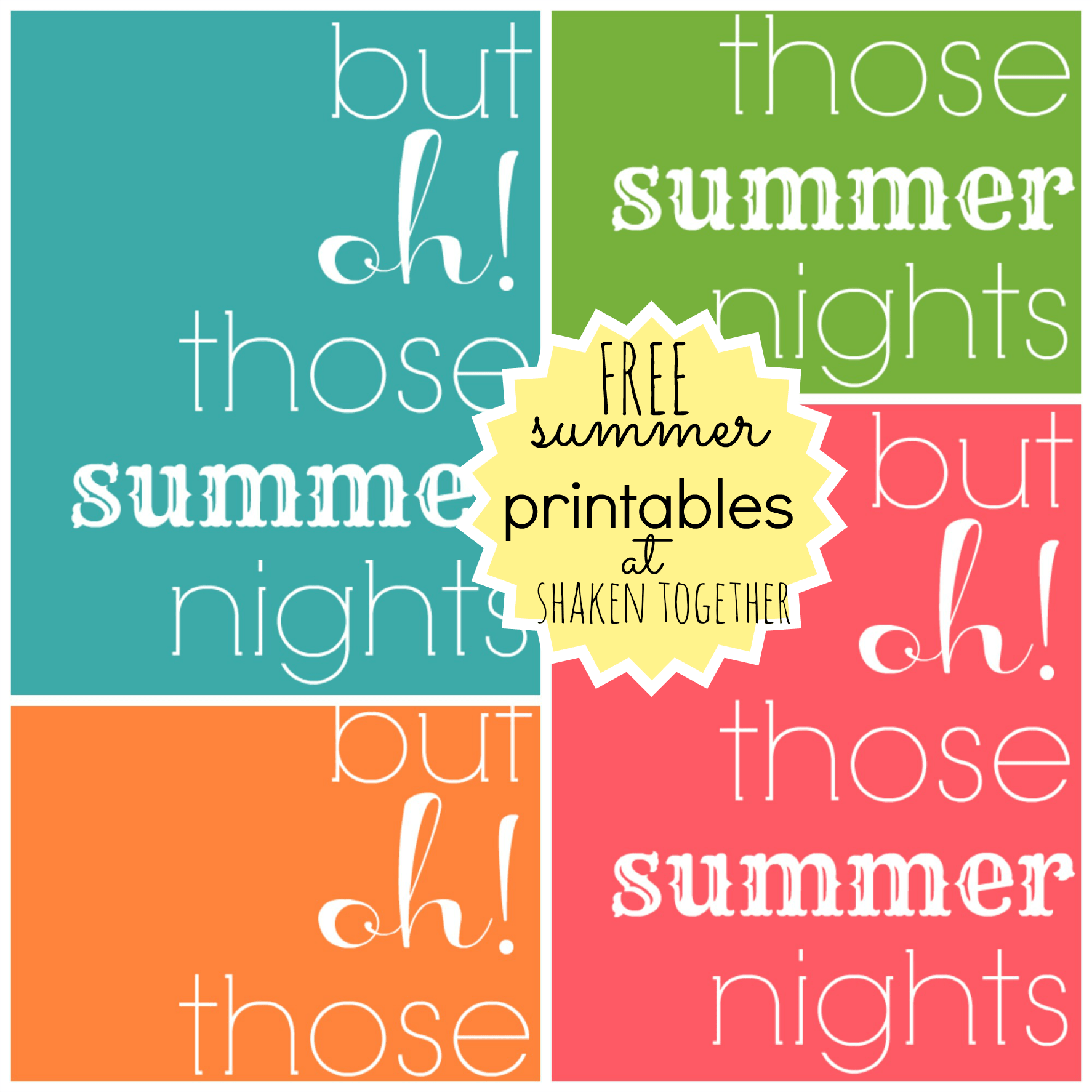 4 Best Images Of Free Summer Printables
