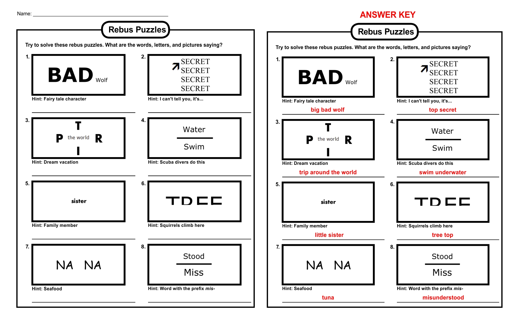 6 Best Images Of Printable Brain Teasers For Adults