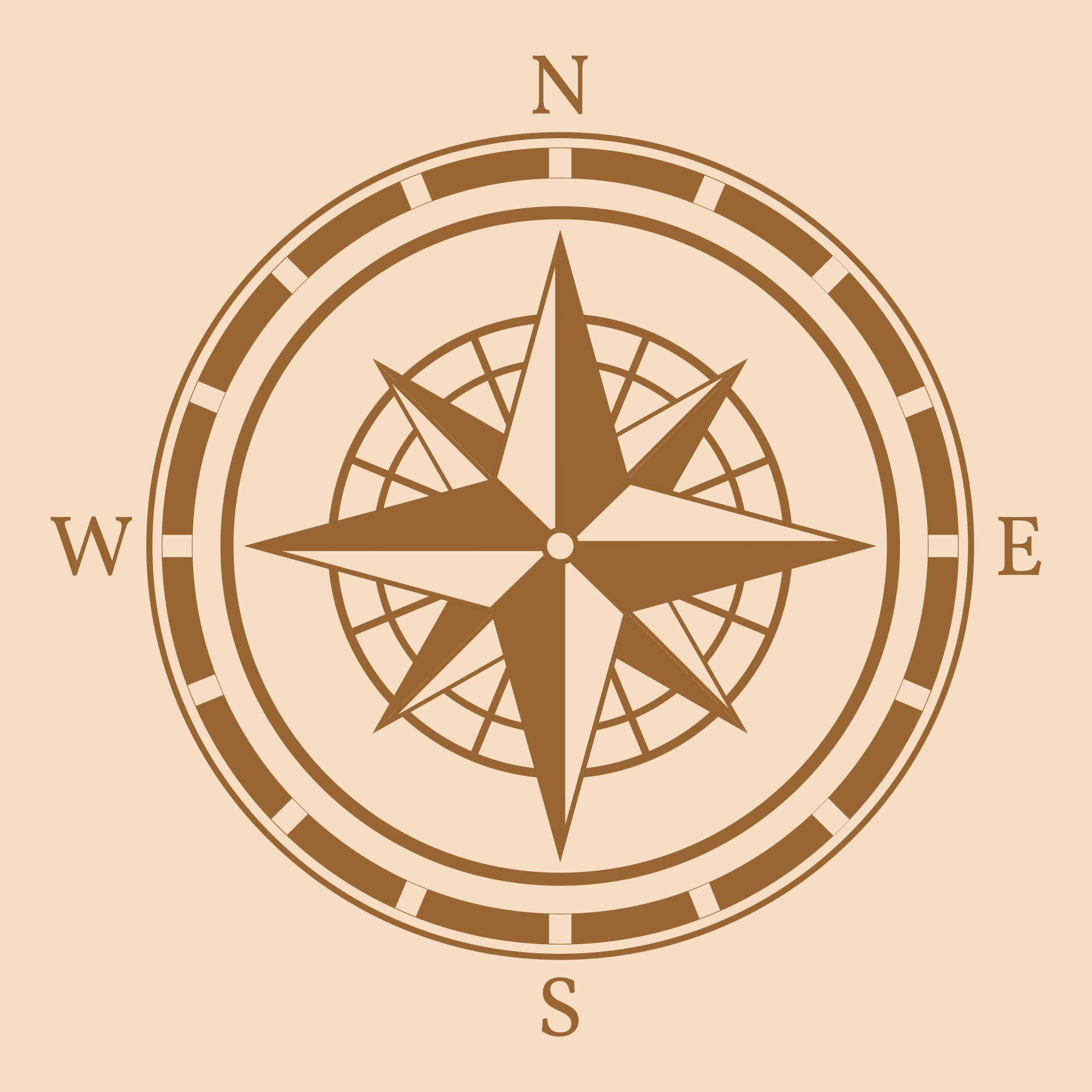 7 Best Images Of Free Printable Compass