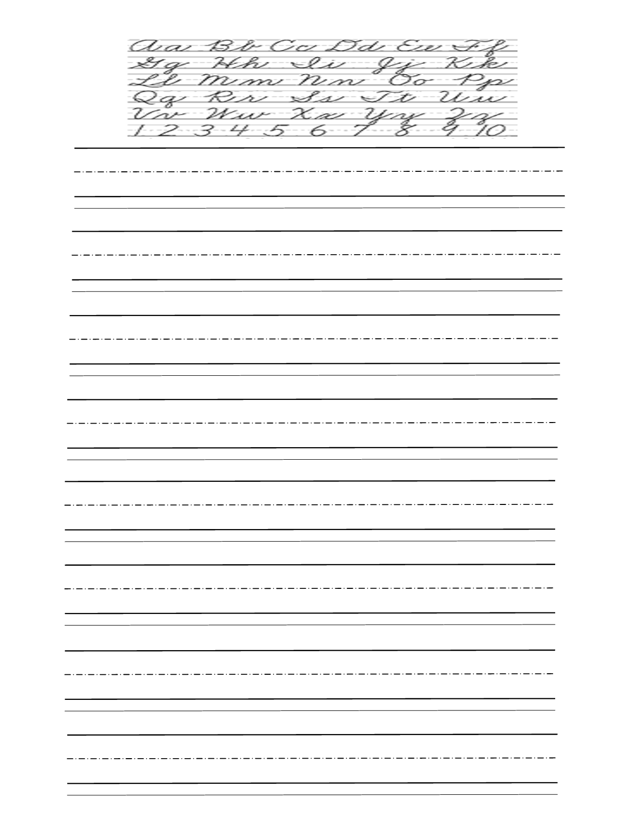 6 Best Images Of Cursive Writing Practice Printable