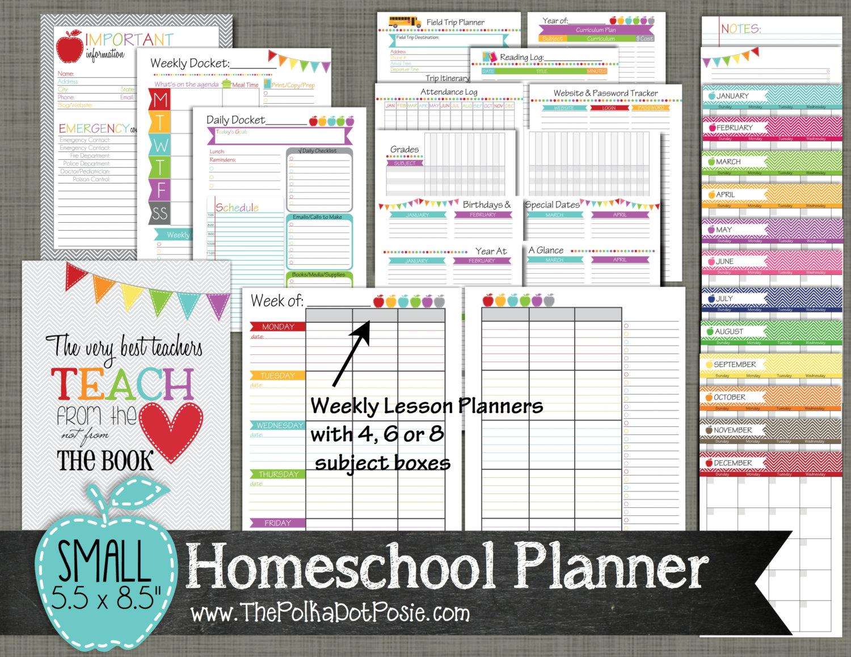 Printable homeschool lesson plan template maxwellsz