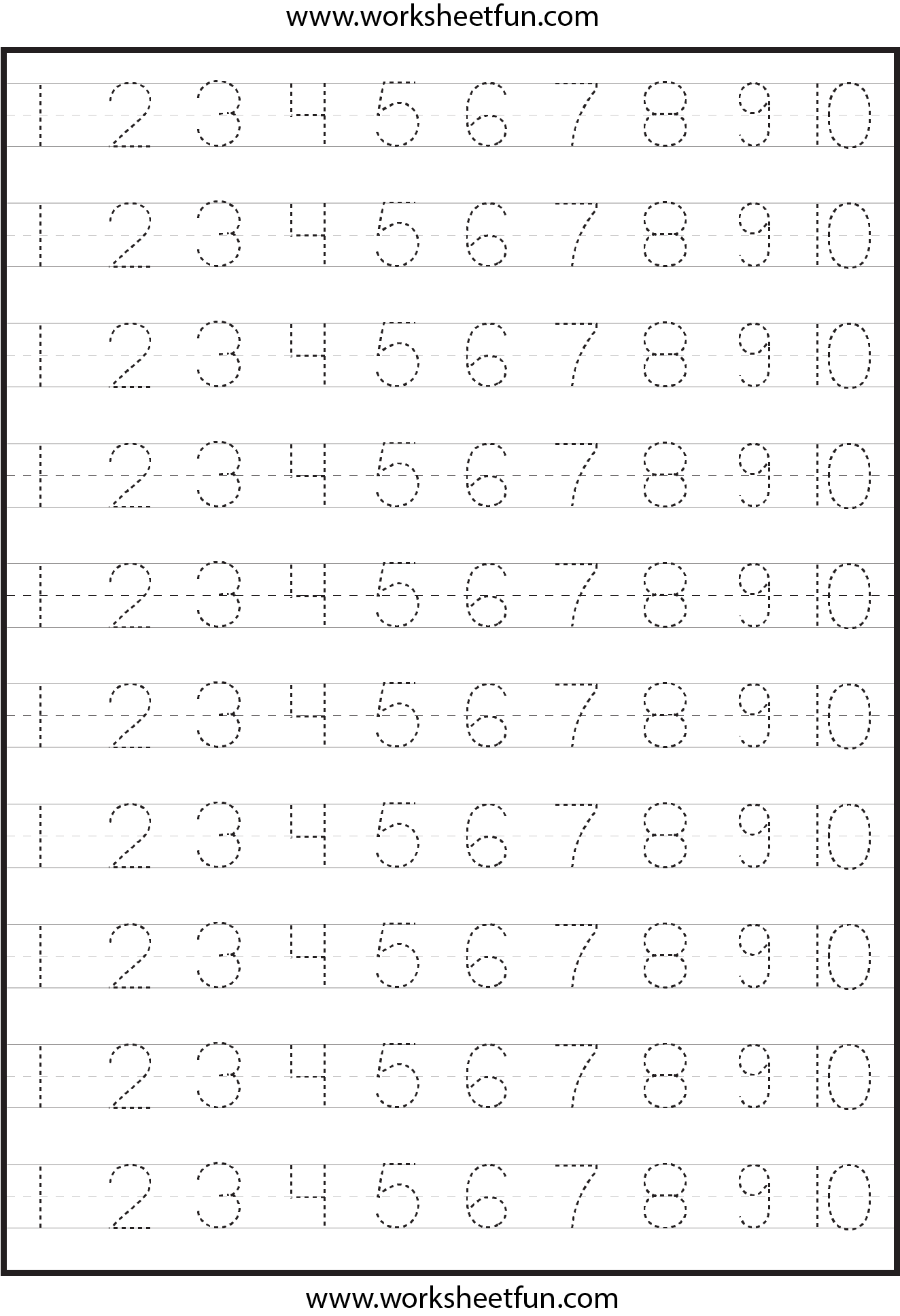 6 Best Images Of Free Printable Tracing Numbers 1 100