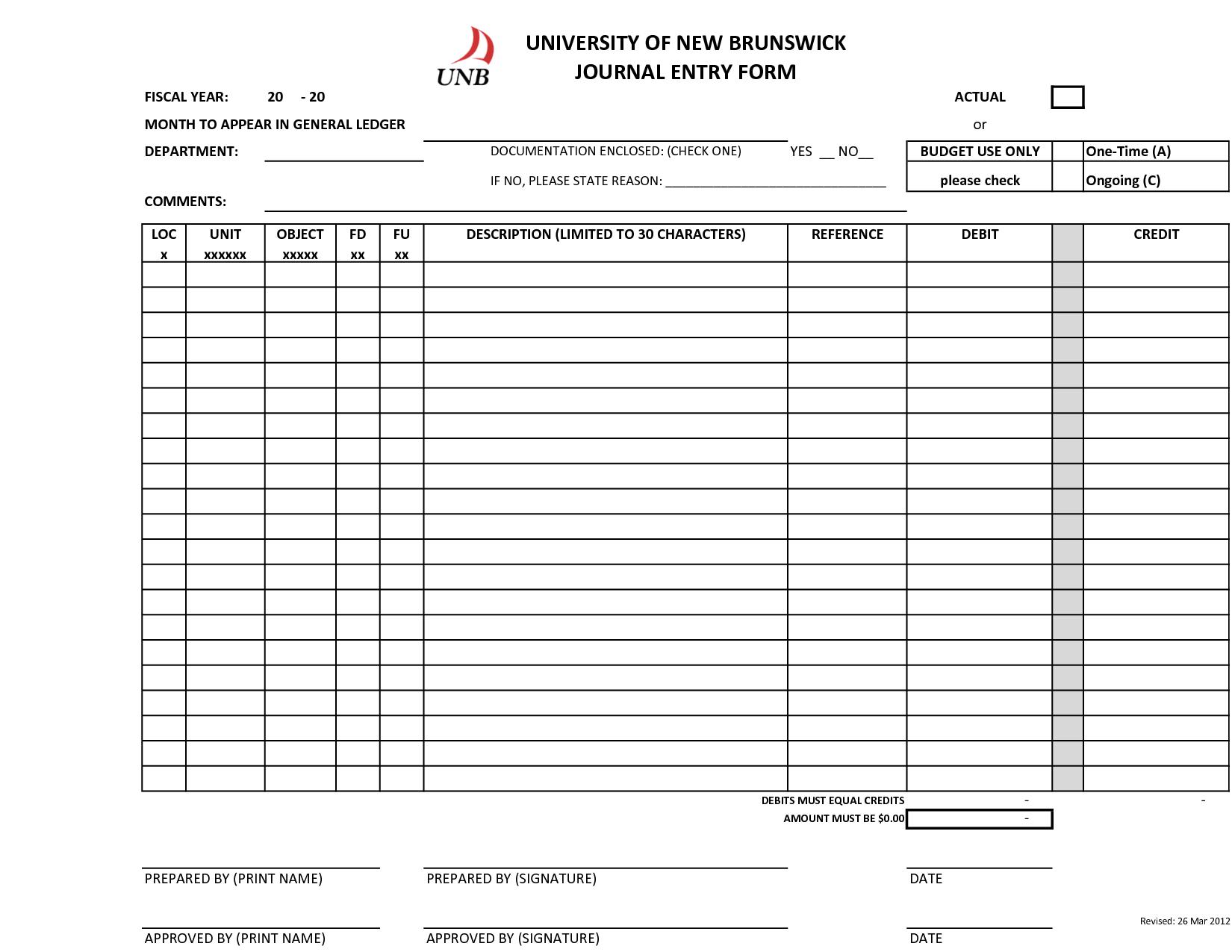 Accounting Worksheet Food