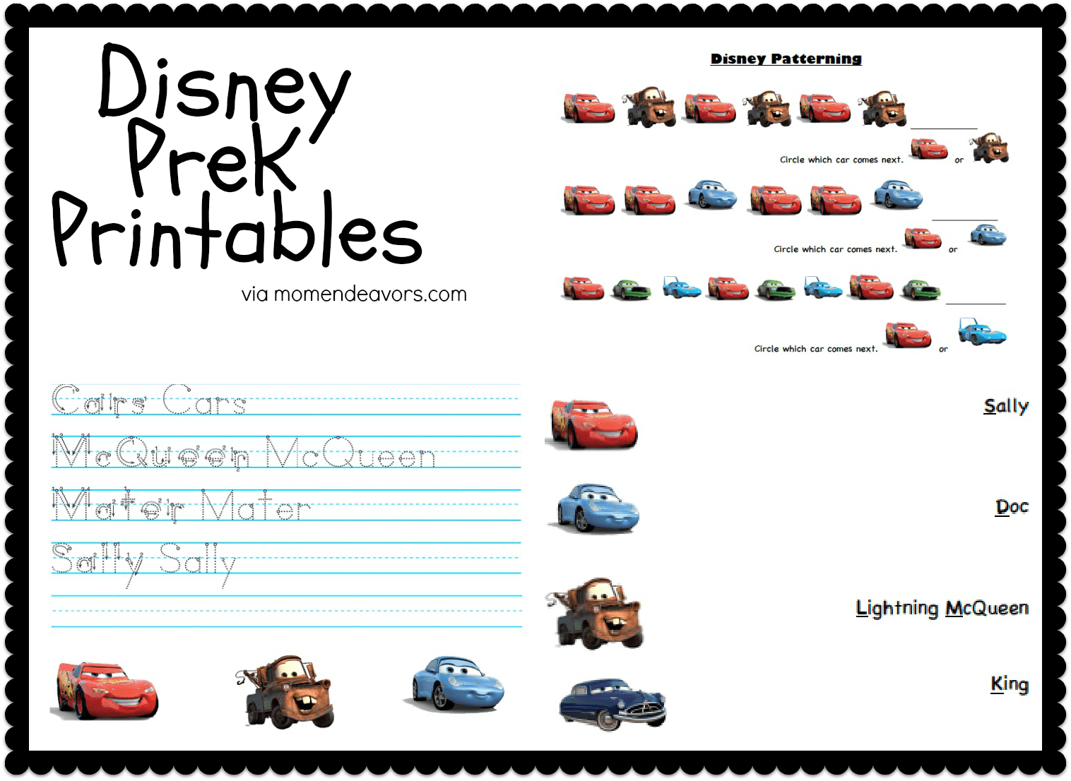 8 Best Images Of Disney Preschool Printable Worksheets