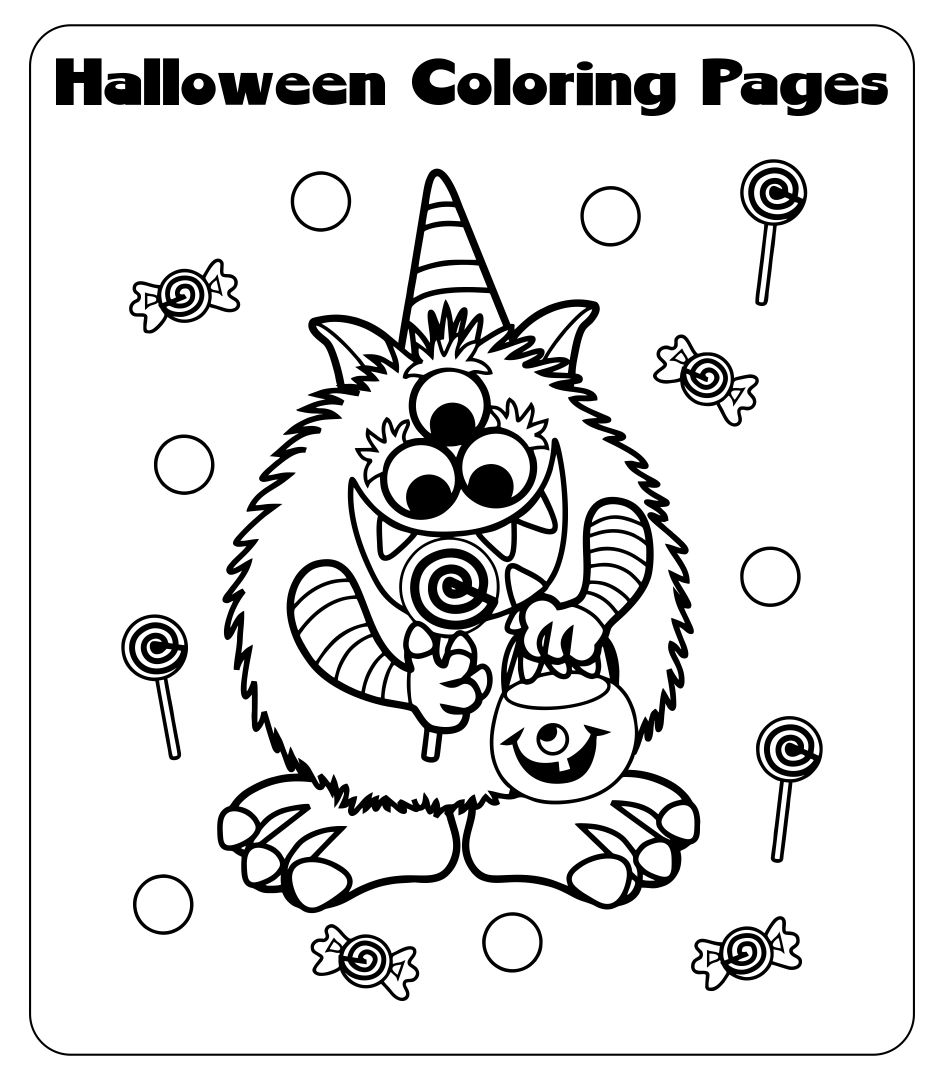 6 Best Images Of Free Halloween Printables Coloring
