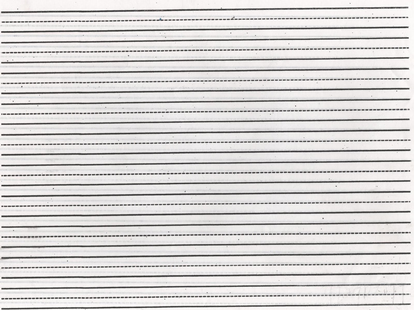 Free Lined Writing Paper For 3rd Grade