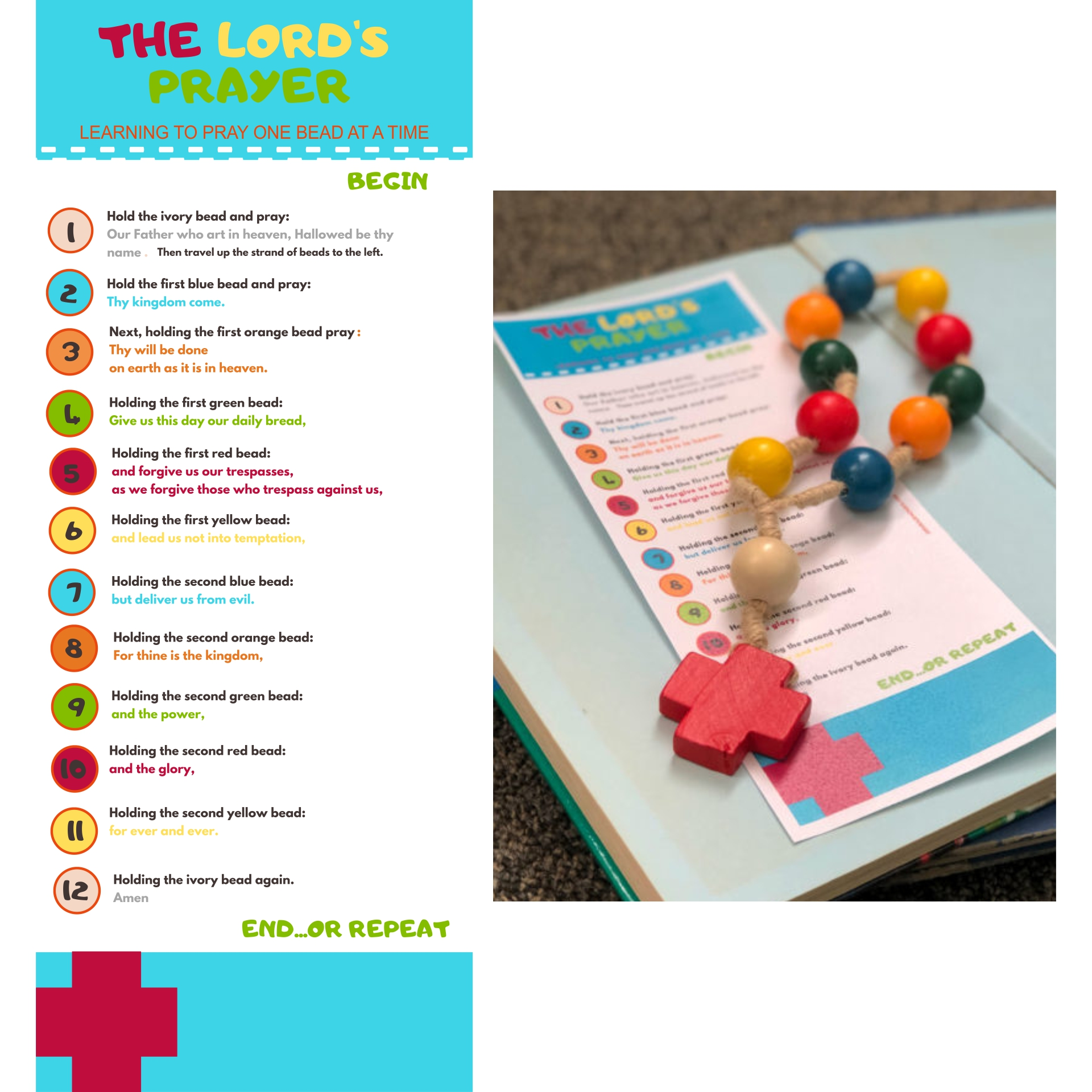 8 Best Images Of Printable Lord S Prayer Craft