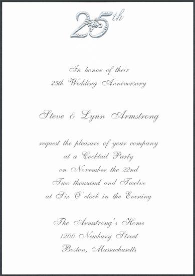 25th Wedding Anniversary Invitations Beautiful As Diy With Laser Cut