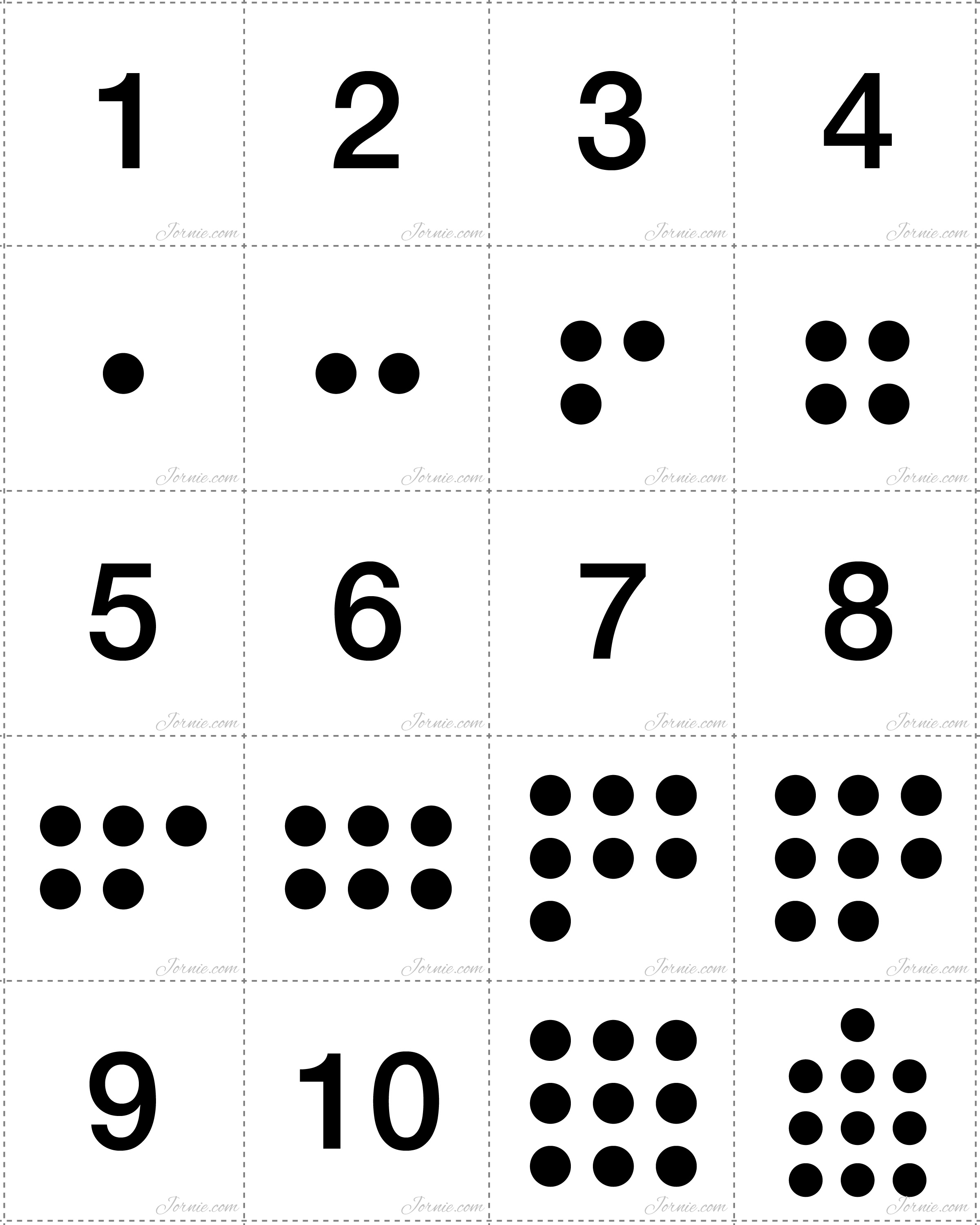 5 Best Images Of Printable Dot Cards 1 10