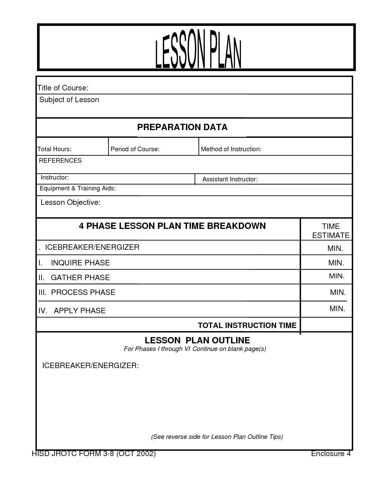 Search Results For Blank Lesson Plan Forms Printable