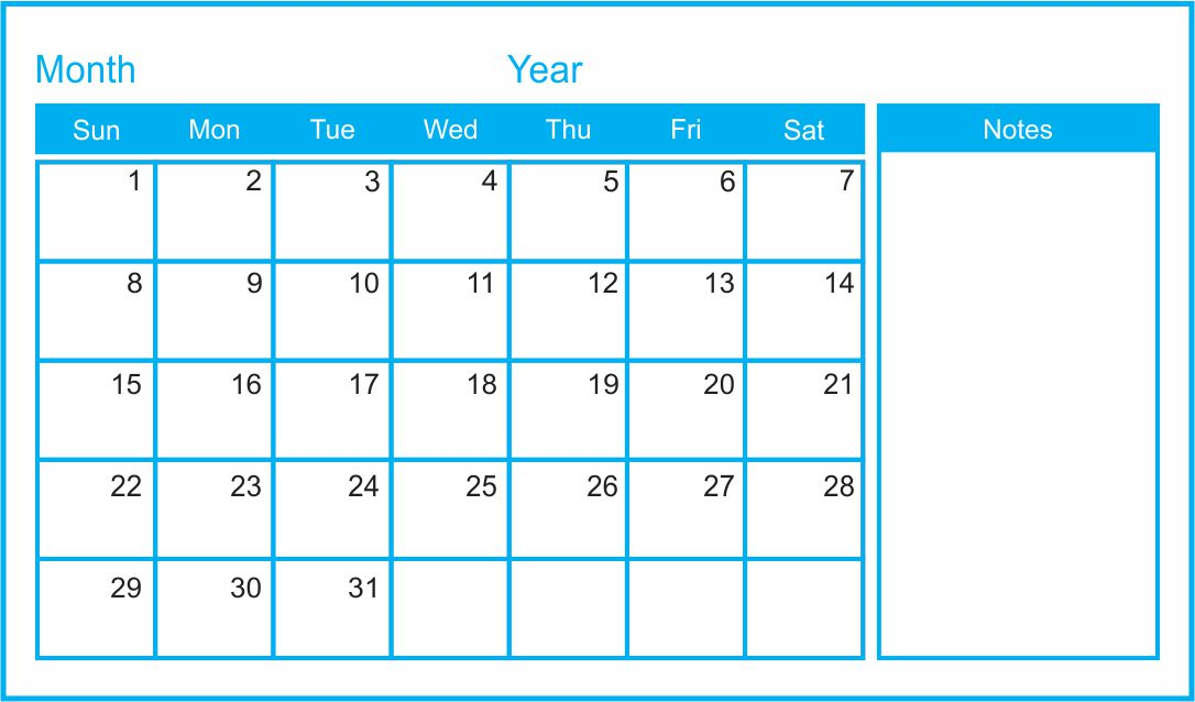 Make free printable calendars in pdf format for 2021, 2022 and more. 7 Best Images of Printable Blank Monthly Calendar Template ...