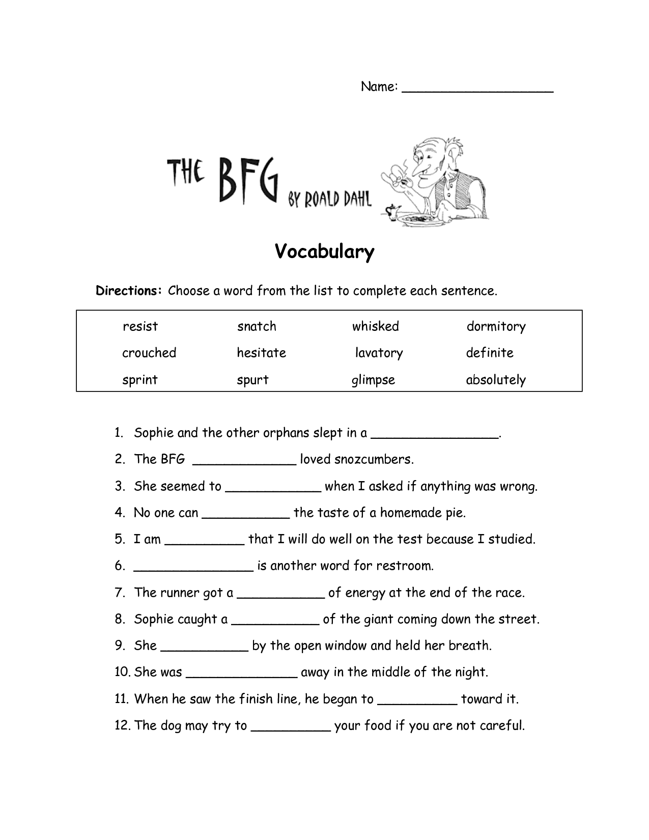 5 Best Images Of Printable Vocabulary Worksheets