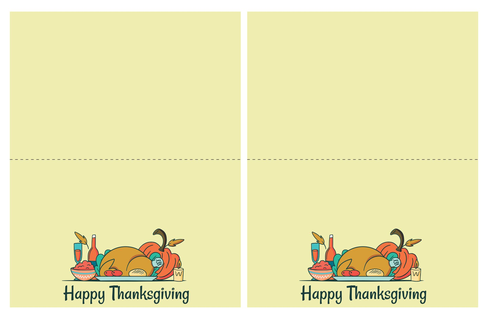 7 Best Images Of Thank You Printable Thanksgiving Color