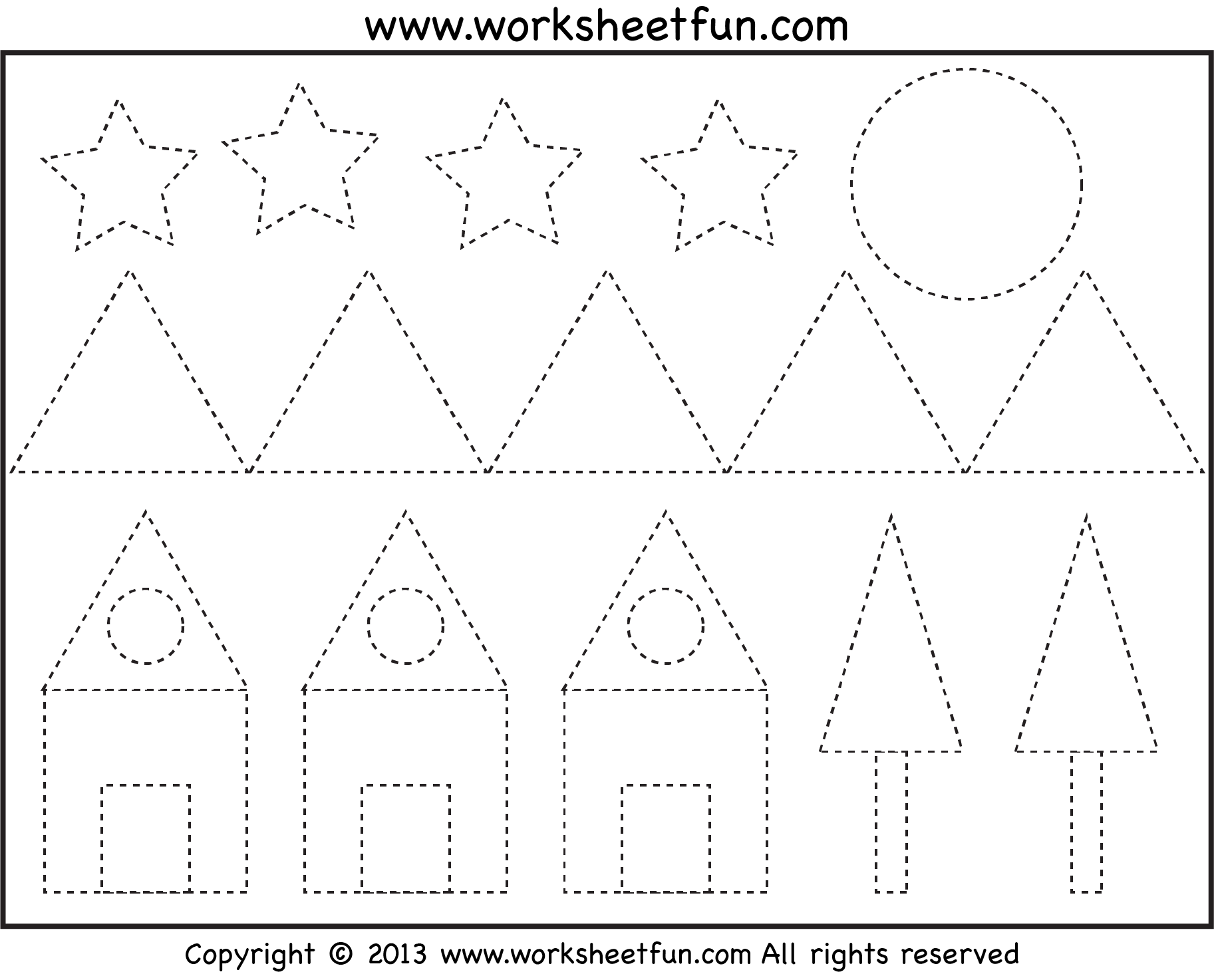 7 Best Images Of Printable Shape Tracing Worksheets