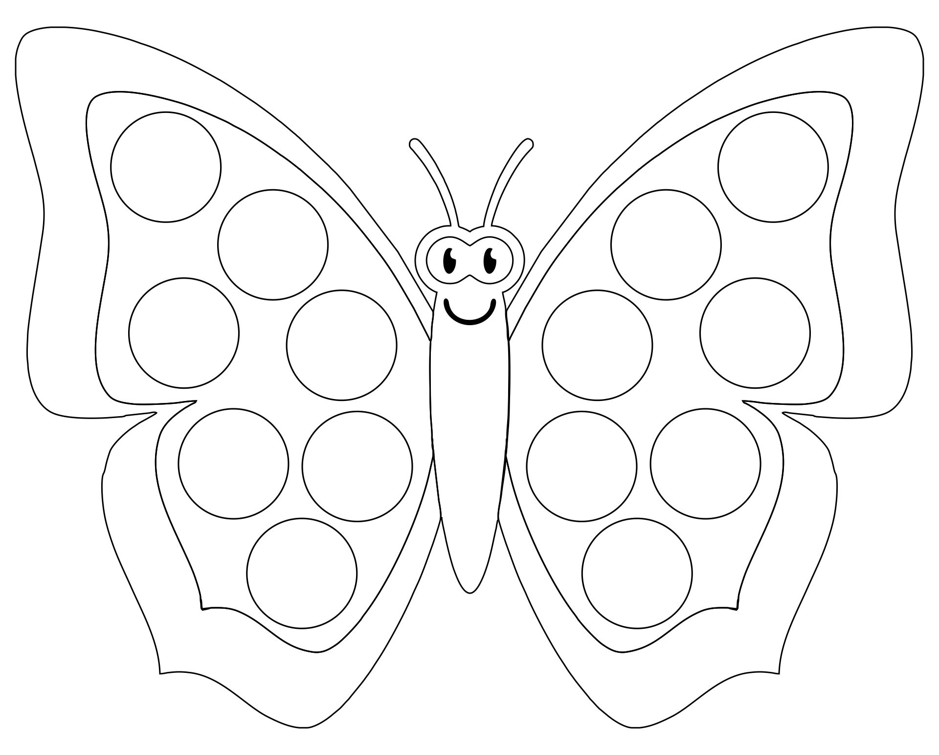 Butterfly Dot To Dot Preschool