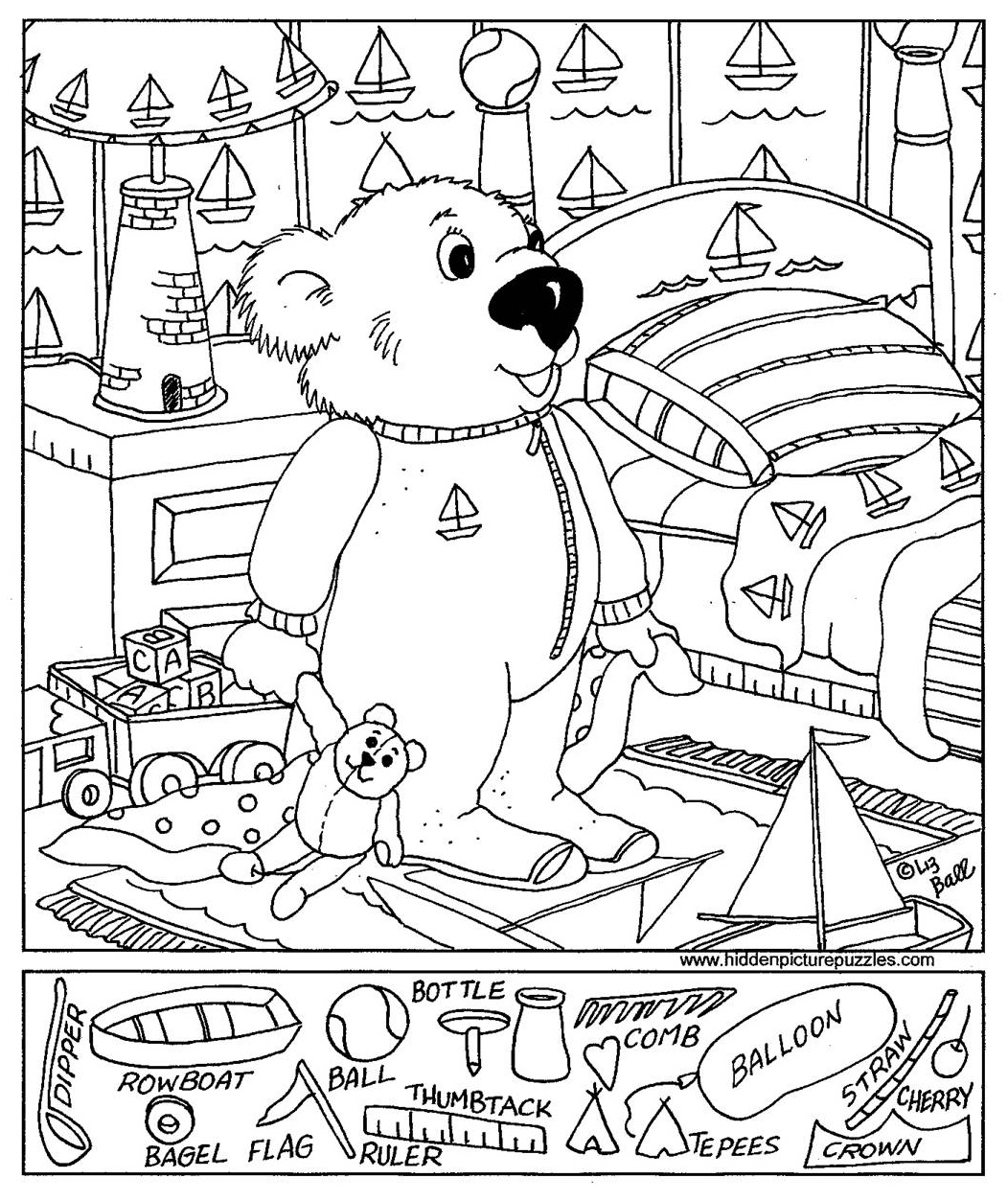 6 Best Images Of Easy Hidden Object Printable Worksheets
