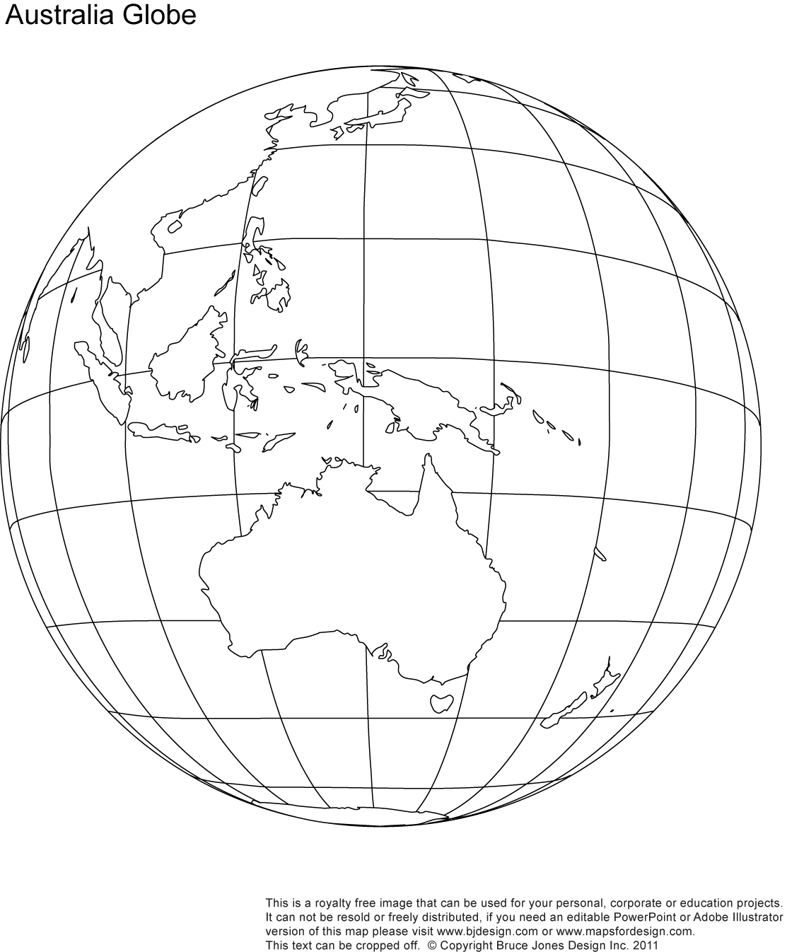 9 Best Images Of Printable Outline World Globe