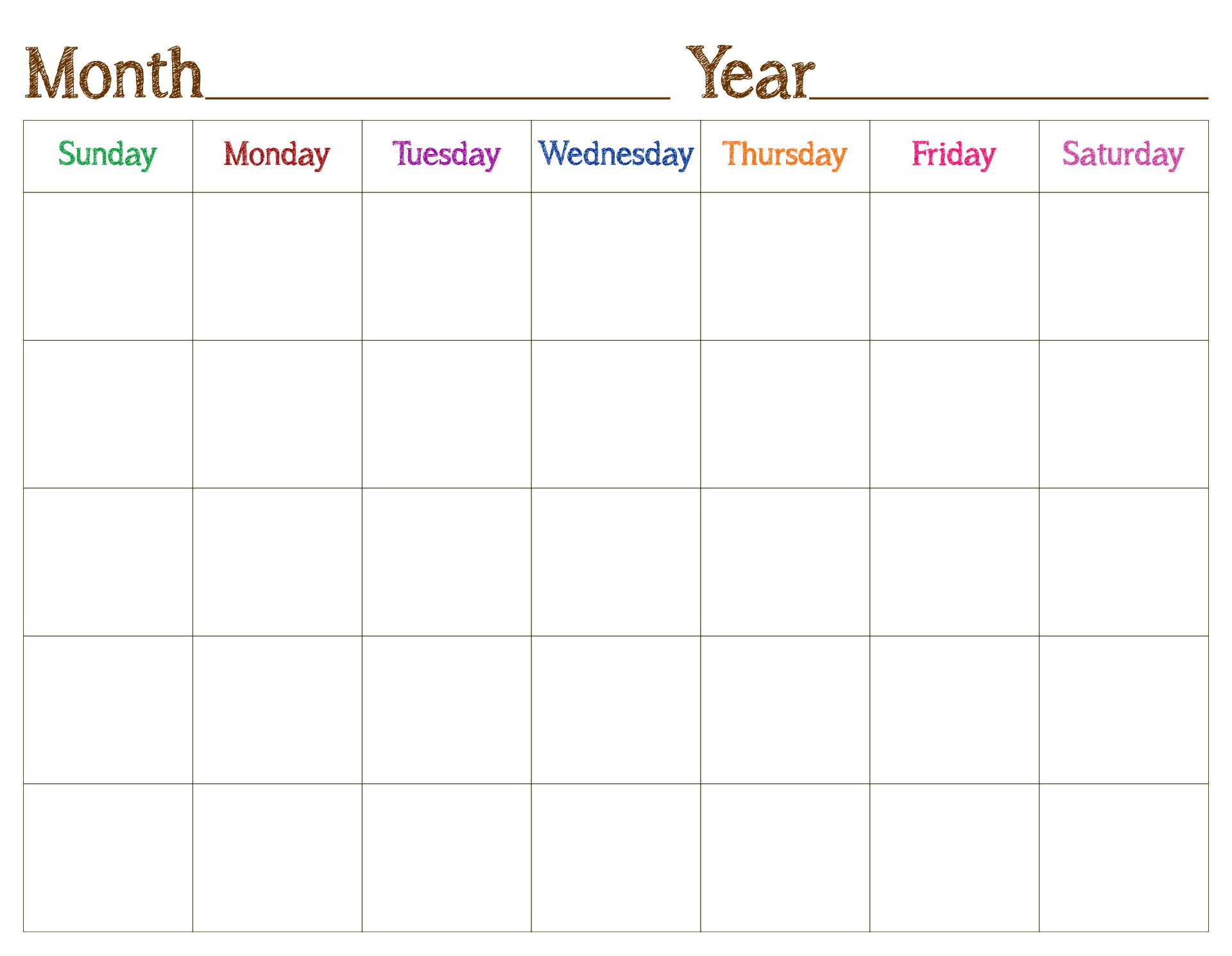 Sure, digital calendars are convenient — we can take them everyw. 6 Best Images of Blank Printable Calendar - Free Blank ...