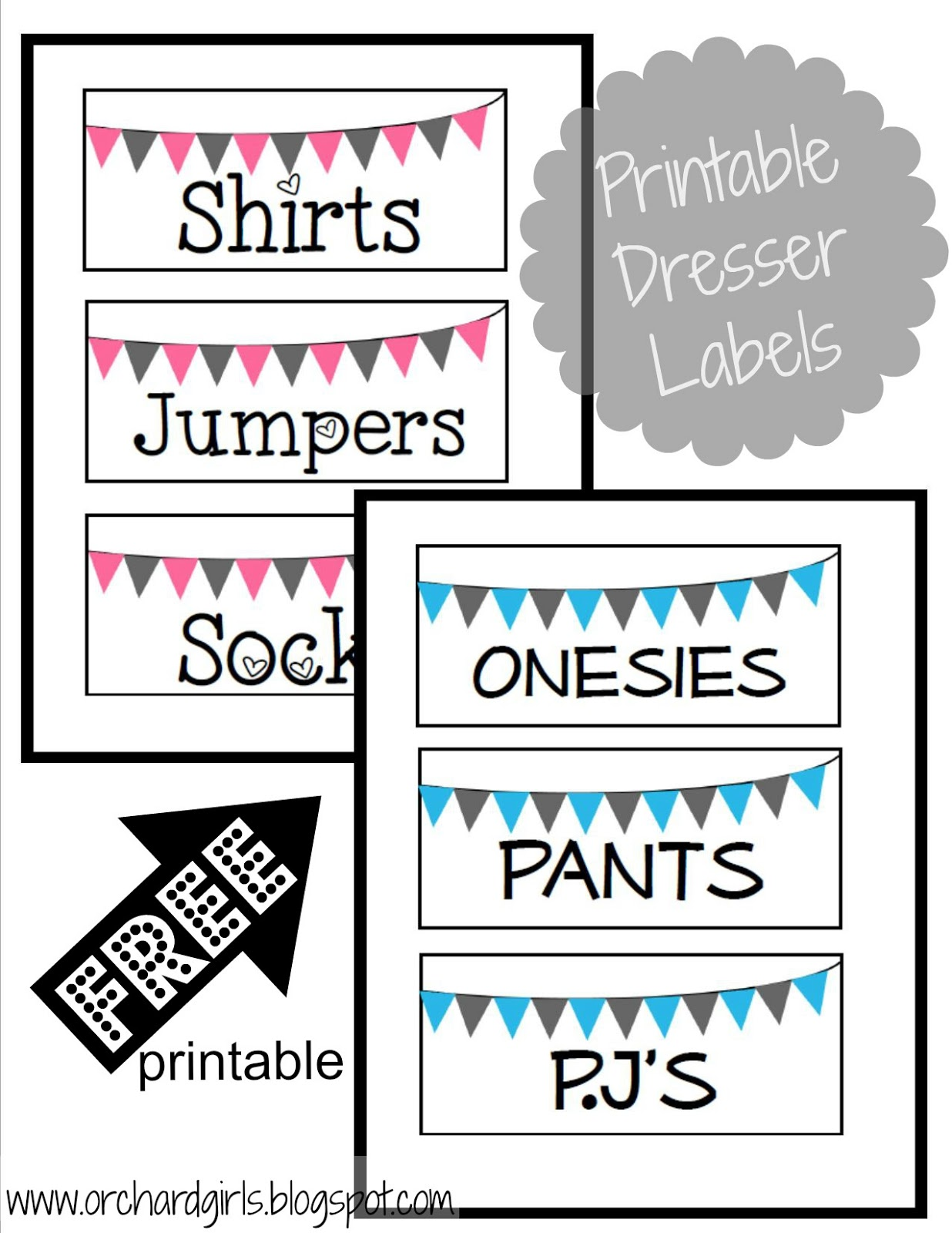8 Best Images Of Baby Printables Free Organization
