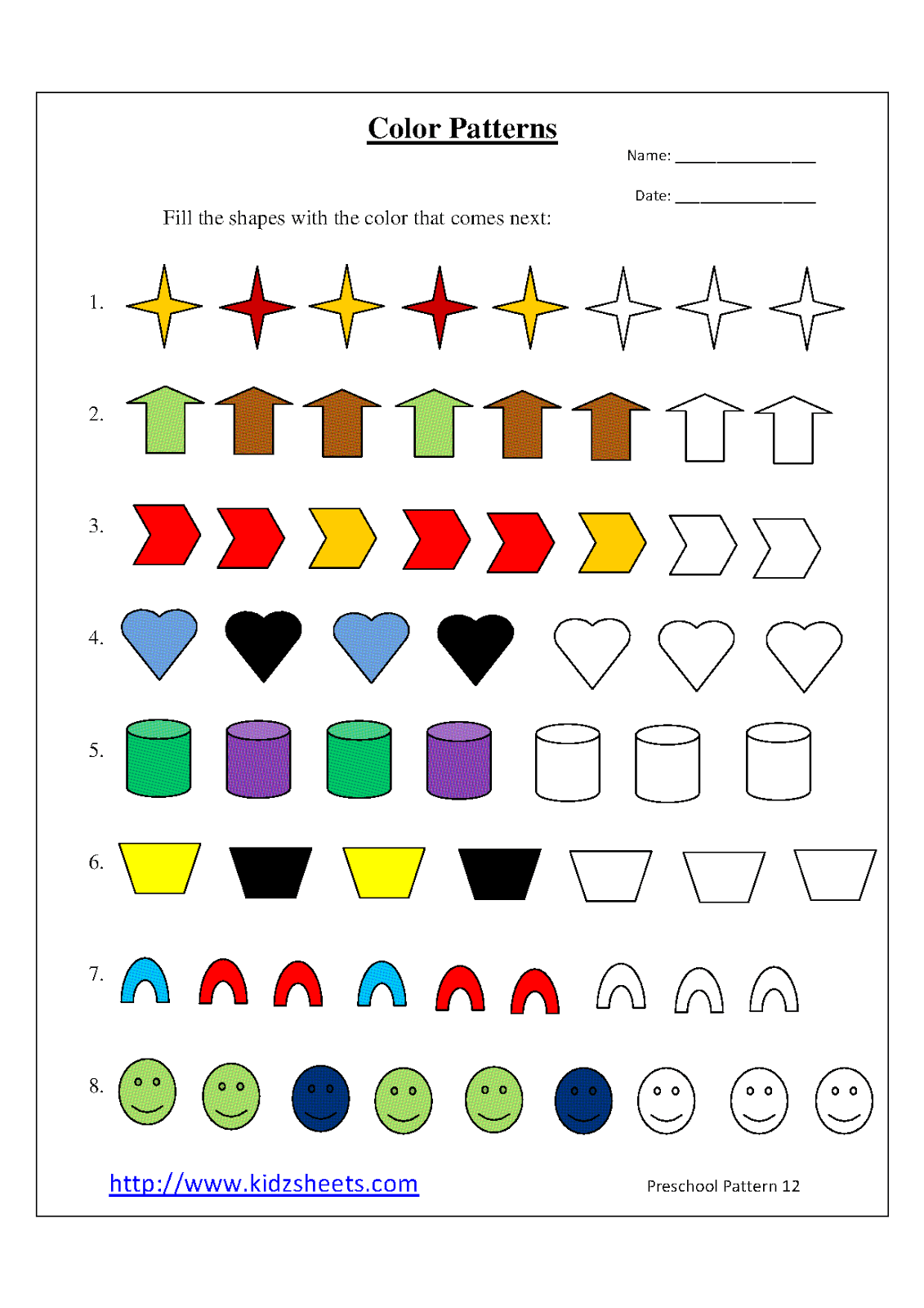 4 Best Images Of Free Printable Patterns To Color