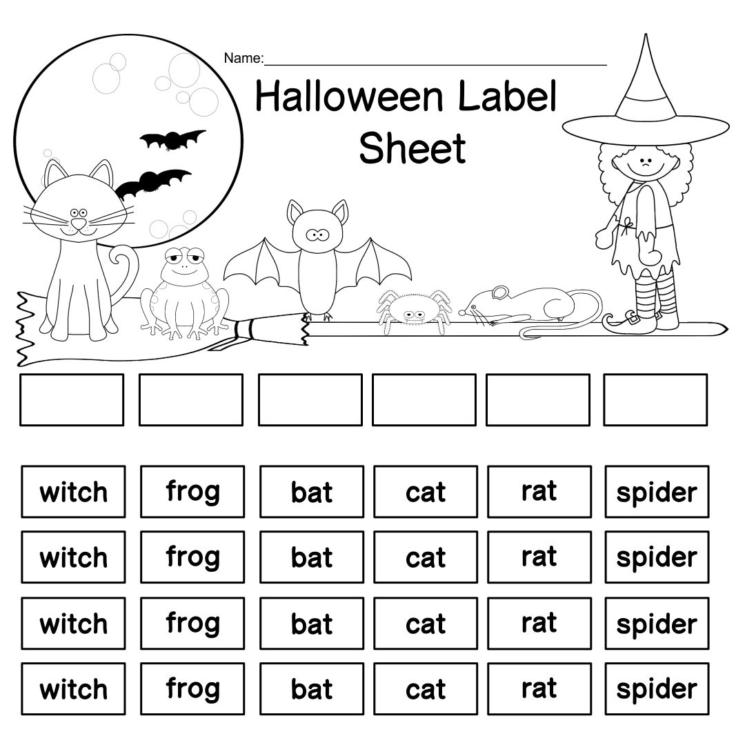7 Best Cut And Paste Halloween Printables