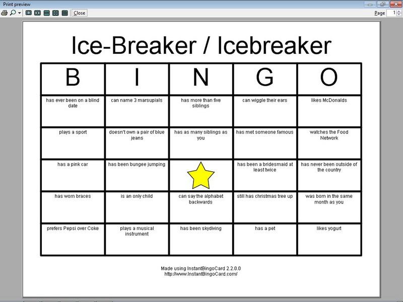 7 Best Images Of Printable Icebreaker Bingo Games Ice
