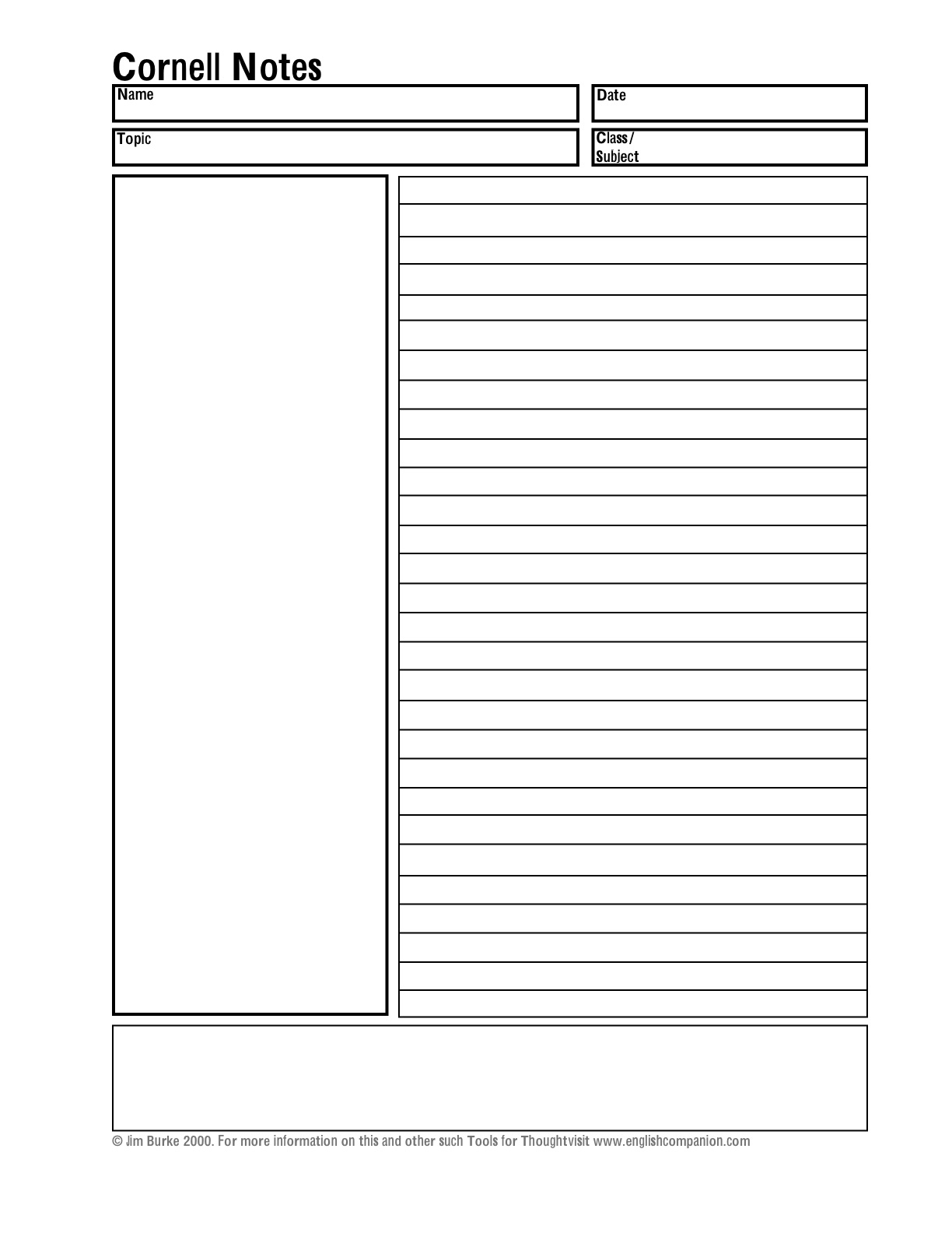 Blank 20 Column Worksheet Template