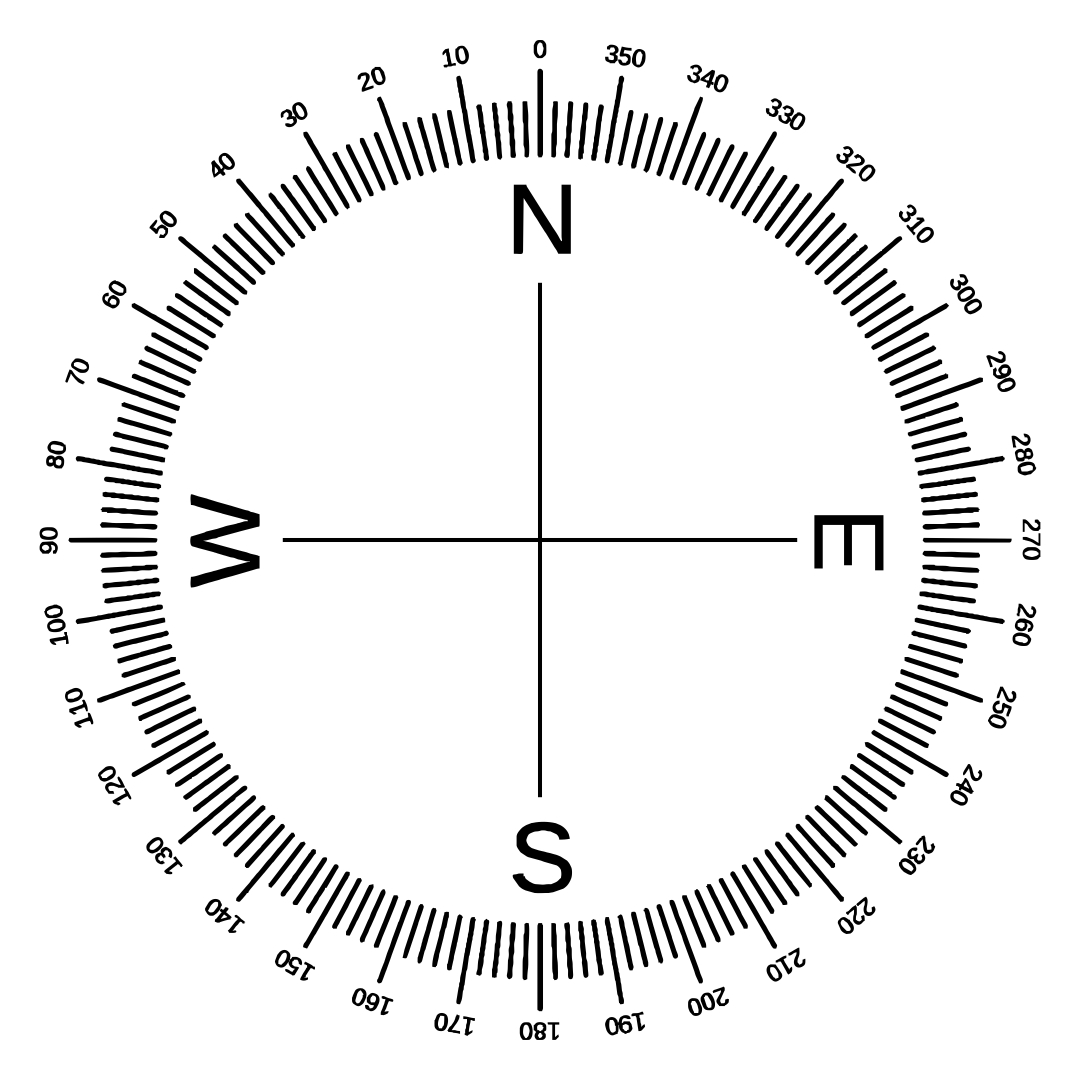 6 Best Images Of Printable Compass Degrees